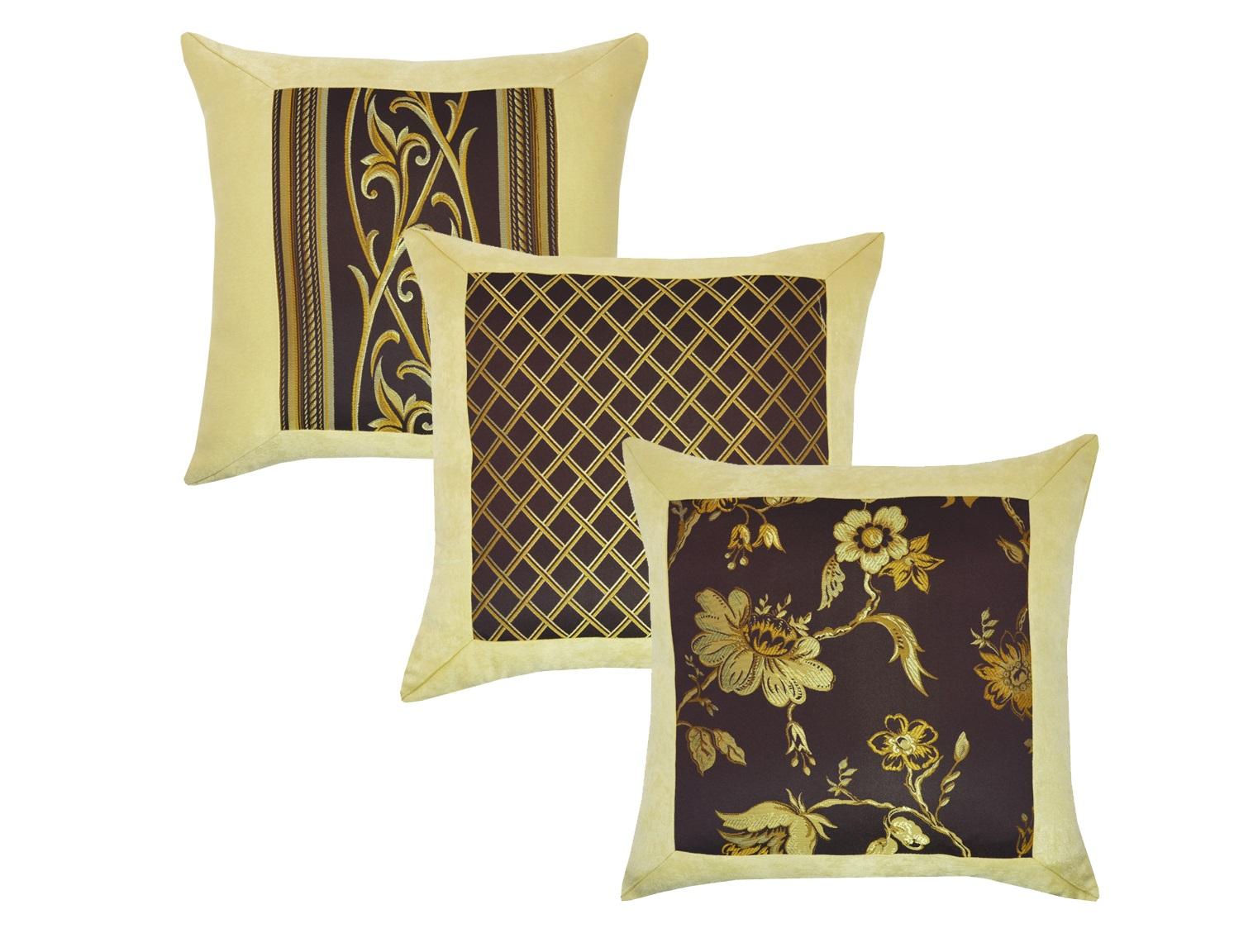 Комплект подушек Ivonne Violet (2шт)Квадратные подушки и наволочки<br>Комплект декоративных  подушек. Чехол съемный.<br><br>Material: Вискоза<br>Length см: 45<br>Width см: 45<br>Depth см: 15