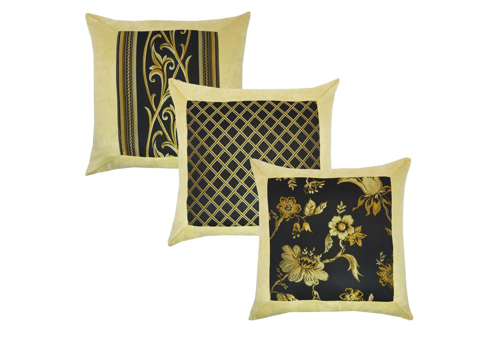 Комплект подушек Ivonne Black (2шт)Квадратные подушки и наволочки<br>Комплект декоративных  подушек. Чехол съемный.<br><br>Material: Вискоза<br>Length см: 45<br>Width см: 45<br>Depth см: 15