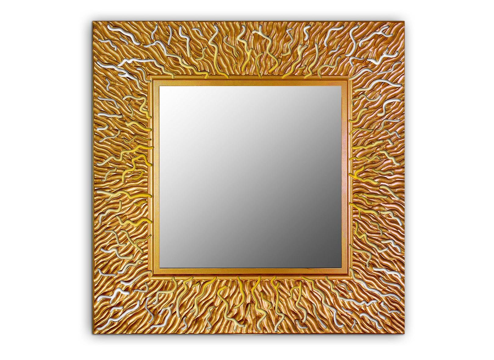 Зеркало CORALНастенные зеркала<br>Из тьмы морских глубин к свету тянутся кружевные ветки кораллов,напоминая о том,что творчество и успех,сила и красота есть в каждом из нас. <br>Рука резчика запечатлела живой и неповторимый узор коралла, превратив его в великолепное украшение дома. <br>Данный вариант представлен в квадратной форме<br><br>Material: Дерево<br>Width см: 90<br>Depth см: 0,8<br>Height см: 90<br>Diameter см: None