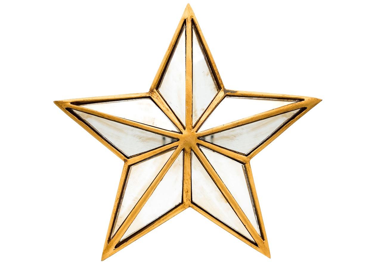 Зеркальное настенное украшение БурлескДругое<br>Десять зеркальных граней настенного украшения «Бурлеск», соединенных под равным углом, - эффектное радужное световое представление, сюрприз новогодней ёлки в любое время года. Отражаясь в гранях звезды, разные уголки комнаты сливаются воедино, подобно забавному калейдоскопу.&amp;lt;div&amp;gt;&amp;lt;br&amp;gt;&amp;lt;/div&amp;gt;&amp;lt;div&amp;gt;Для крепления к стене панно снабжено широкой металлической скобой, обеспечивающей быстрый монтаж и симметричное положение звезды. Оборотная сторона выполнена из бархатного полиэстера.   &amp;lt;/div&amp;gt;<br><br>Material: Полистоун<br>Width см: 22.8<br>Depth см: 4.3<br>Height см: 22.3
