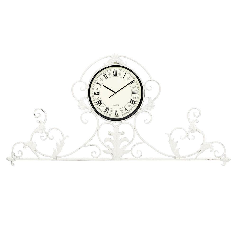 Настенные часы АртуаНастенные часы<br>Прозрачный кружевной узор часов &amp;quot;Артуа&amp;quot; расчерчивает силуэты лилий и сердец, режиссируя атмосферу простора и невесомости, свежести и света. Для одних это часы, увенчанные рельефной оправой, для других - изысканное панно, снабженное часами. Часы &amp;quot;Артуа&amp;quot; - привилегия салонов &amp;quot;ар-деко&amp;quot;, классических интерьеров &amp;quot;рококо&amp;quot; и &amp;quot;ампира&amp;quot;. Прозрачный ажурный орнамент эффектно подчеркнет как цветные обои, так и однотонные стены.&amp;lt;div&amp;gt;&amp;lt;br&amp;gt;&amp;lt;/div&amp;gt;&amp;lt;div&amp;gt;&amp;lt;div&amp;gt;Тип батарейки: LR14 C 1,5 В.&amp;lt;/div&amp;gt;&amp;lt;div&amp;gt;Необходимое количество батареек: 1 шт.&amp;lt;br&amp;gt;&amp;lt;/div&amp;gt;&amp;lt;div&amp;gt;Батарейка в комплект не входит.&amp;lt;/div&amp;gt;&amp;lt;/div&amp;gt;&amp;lt;div&amp;gt;&amp;lt;br&amp;gt;&amp;lt;/div&amp;gt;&amp;lt;iframe width=&amp;quot;530&amp;quot; height=&amp;quot;315&amp;quot; src=&amp;quot;https://www.youtube.com/embed/CPT6ERkaX1Y&amp;quot; frameborder=&amp;quot;0&amp;quot; allowfullscreen=&amp;quot;&amp;quot;&amp;gt;&amp;lt;/iframe&amp;gt;<br><br>Material: Металл<br>Ширина см: 100.0<br>Высота см: 47.0<br>Глубина см: 3.0