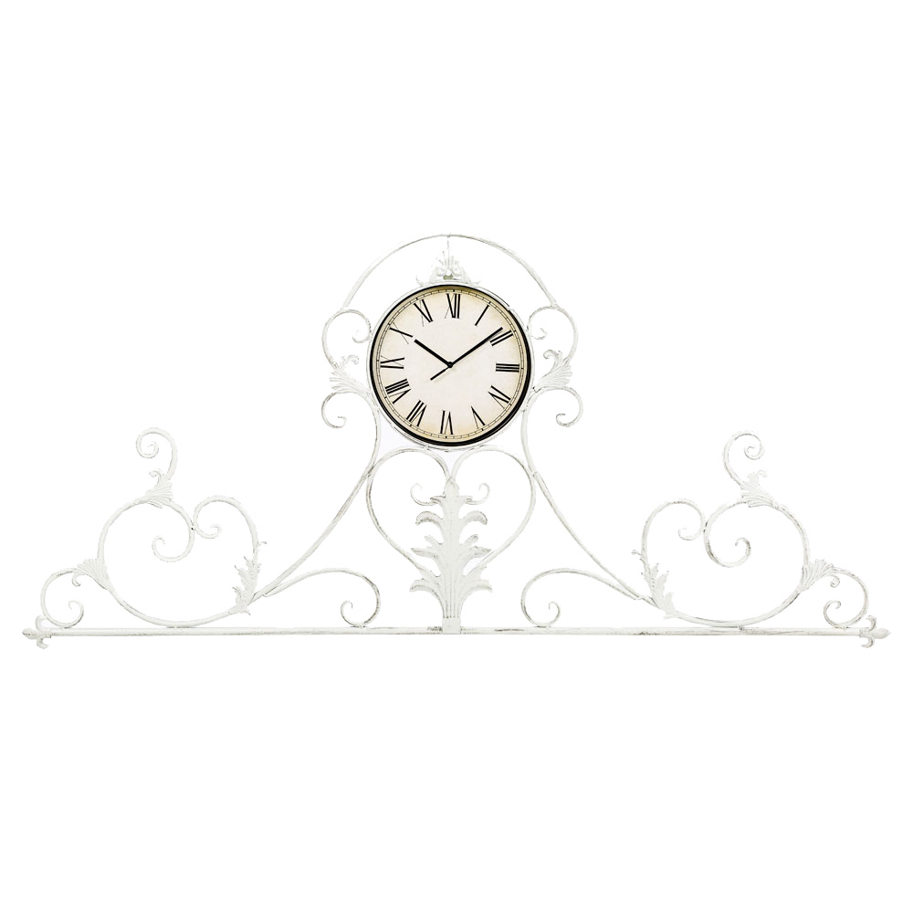Настенные часы Вуаль-РужНастенные часы<br>Интерьерные часы &amp;quot;Вуаль-Руж&amp;quot; блещут ажурным орнаментом, достойным салонов &amp;quot;ар-деко&amp;quot;, классических интерьеров &amp;quot;рококо&amp;quot; и &amp;quot;ампира&amp;quot;. &amp;quot;Вуаль-Руж&amp;quot; - идеальный пример декоративных часов. Для одних это часы, увенчанные восхитительной рельефной оправой, для других - изысканное панно, снабженное часами. Романтические сплетения лилий и сердец  даруют интерьеру эффект пышности и дворцового благородства.&amp;lt;div&amp;gt;&amp;lt;br&amp;gt;&amp;lt;/div&amp;gt;&amp;lt;div&amp;gt;Тип батарейки: LR14 C 1,5 В.&amp;lt;/div&amp;gt;&amp;lt;div&amp;gt;Необходимое количество батареек: 1 шт.&amp;lt;/div&amp;gt;&amp;lt;div&amp;gt;Батарейка в комплект  не входит.&amp;lt;/div&amp;gt;&amp;lt;div&amp;gt;&amp;lt;br&amp;gt;&amp;lt;/div&amp;gt;&amp;lt;iframe width=&amp;quot;530&amp;quot; height=&amp;quot;315&amp;quot; src=&amp;quot;https://www.youtube.com/embed/CPT6ERkaX1Y&amp;quot; frameborder=&amp;quot;0&amp;quot; allowfullscreen=&amp;quot;&amp;quot;&amp;gt;&amp;lt;/iframe&amp;gt;<br><br>Material: Металл<br>Ширина см: 134<br>Высота см: 61<br>Глубина см: 3