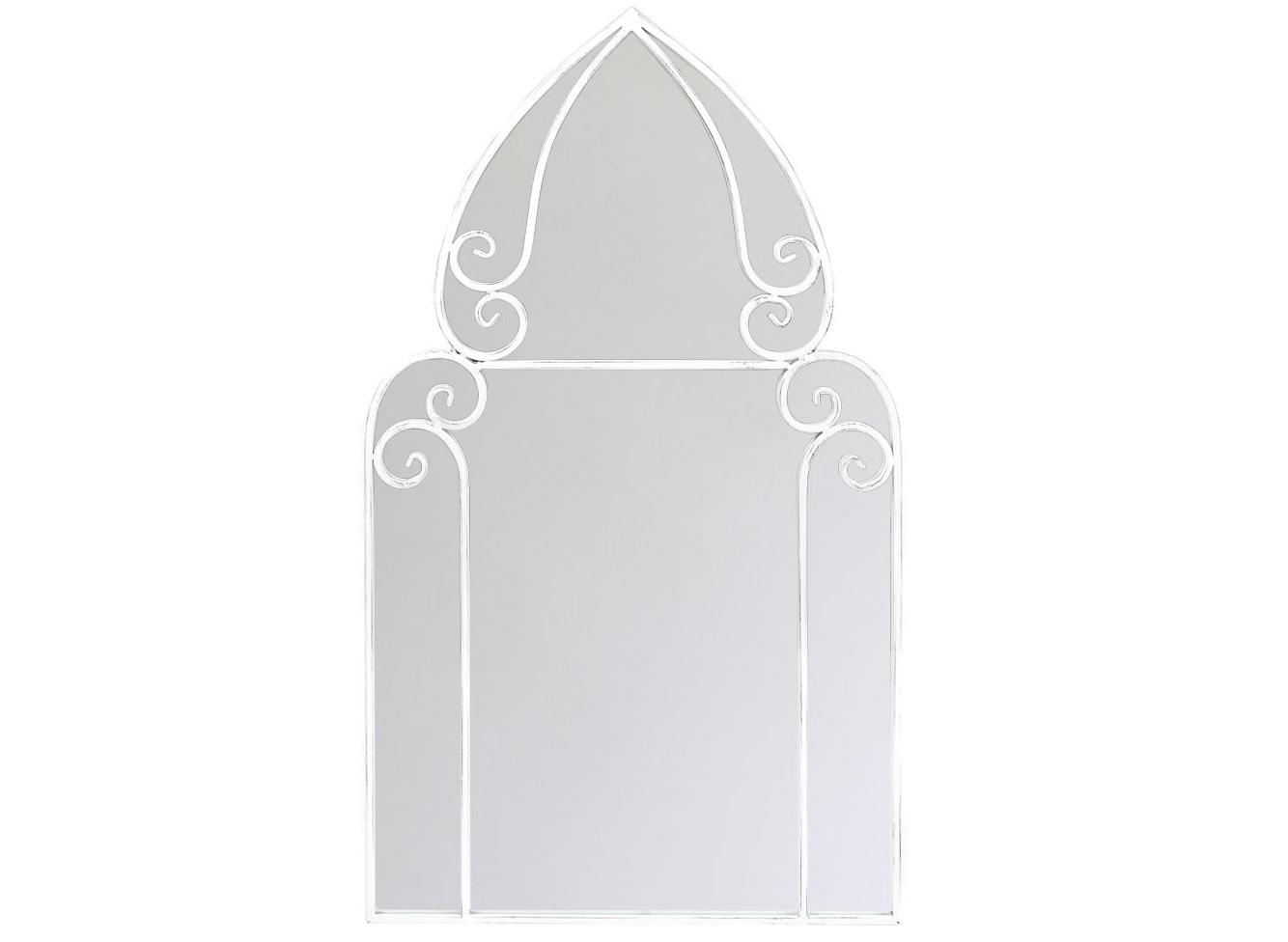 Настенное зеркало ЖерминальНастенные зеркала<br>Кружевное плетение и  зеркала &amp;quot;Жерминаль&amp;quot; открывают помещению волну свежести и простора. Элегантный салонный имидж подчеркнут силуэтом романтичного шатра. Романский классицизм в ритмичной аранжировке современного &amp;quot;лофта&amp;quot; адаптирует этот дизайн в любом интерьерном окружении. Особый комплимент - любителям аристократичного стиля &amp;quot;ар-деко. Зеркало покрыто серебряной амальгамой, обладает идеально ровной поверхностью, не боится влаги. Металлические рамы прочны, долговечны и неприхотливы в уходе.<br><br>Material: Металл<br>Width см: 54<br>Depth см: 3<br>Height см: 93