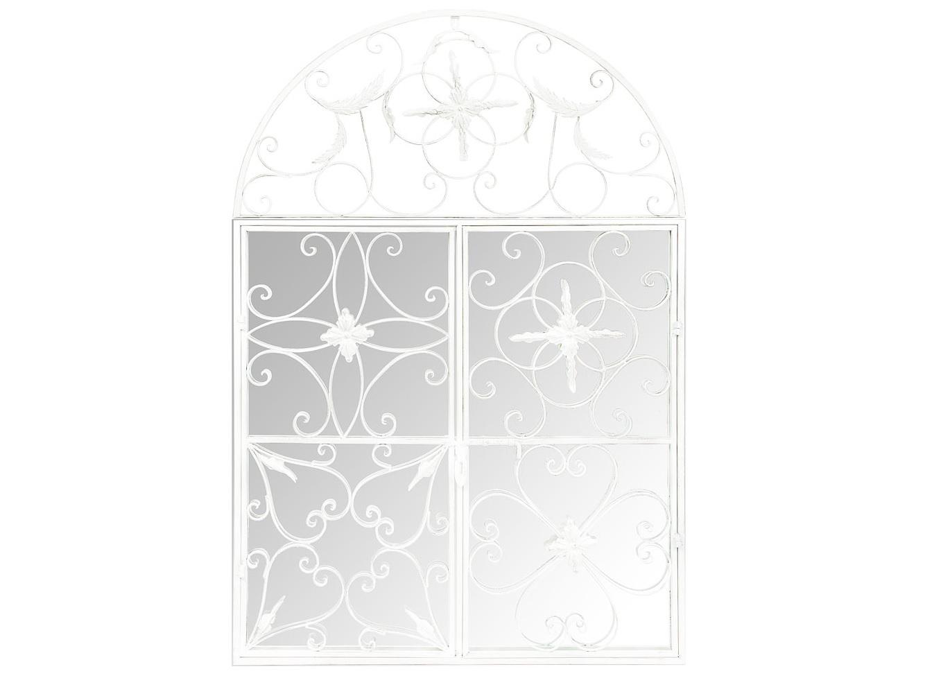 Настенное зеркало БизеНастенные зеркала<br>Зеркало &amp;quot;Бизе&amp;quot; - образцовый пример дизайнерского зеркала, задачей которого является отражение не внешности, а креативных предпочтений владельца.  Замысловатые узоры пяти сегментов рамы не повторяют друг друга. При этом каждый из узоров обладает безупречной симметрией, формируя общую гармонию этого поистине уникального интерьерного украшения.  Рама легко открывается с помощью обычного оконного засова. Это не только придаст дизайну особое обаяние, но и упростит Вам уход за зеркалом.<br><br>Material: Металл<br>Width см: 86<br>Depth см: 8<br>Height см: 125