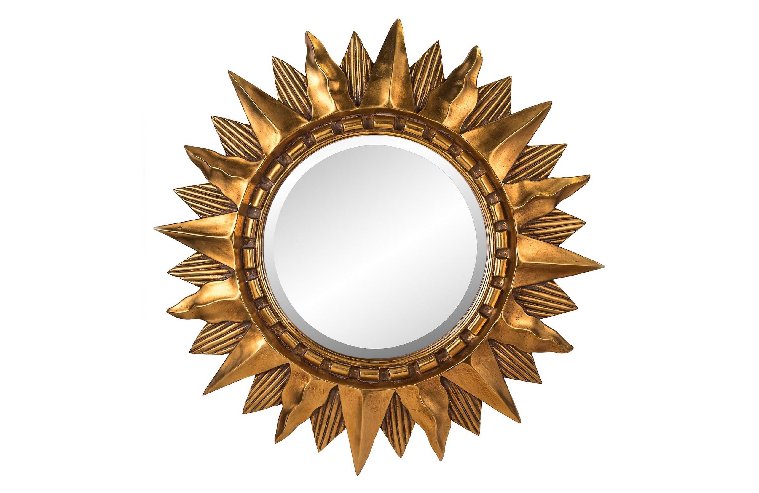 Зеркало Sol GoldНастенные зеркала<br>Материал зеркала: Влагостойкое серебряное зеркало&amp;amp;nbsp;&amp;lt;div&amp;gt;&amp;lt;br&amp;gt;&amp;lt;/div&amp;gt;&amp;lt;div&amp;gt;&amp;lt;span style=&amp;quot;font-size: 14px;&amp;quot;&amp;gt;Цвет зеркала/рамы: Античное золото&amp;lt;/span&amp;gt;&amp;lt;br&amp;gt;&amp;lt;/div&amp;gt;&amp;lt;div&amp;gt;Материал рамы: Полирезин&amp;amp;nbsp;&amp;lt;/div&amp;gt;<br><br>Material: Стекло<br>Length см: None<br>Width см: None<br>Depth см: 6.0<br>Height см: None<br>Diameter см: 85.0