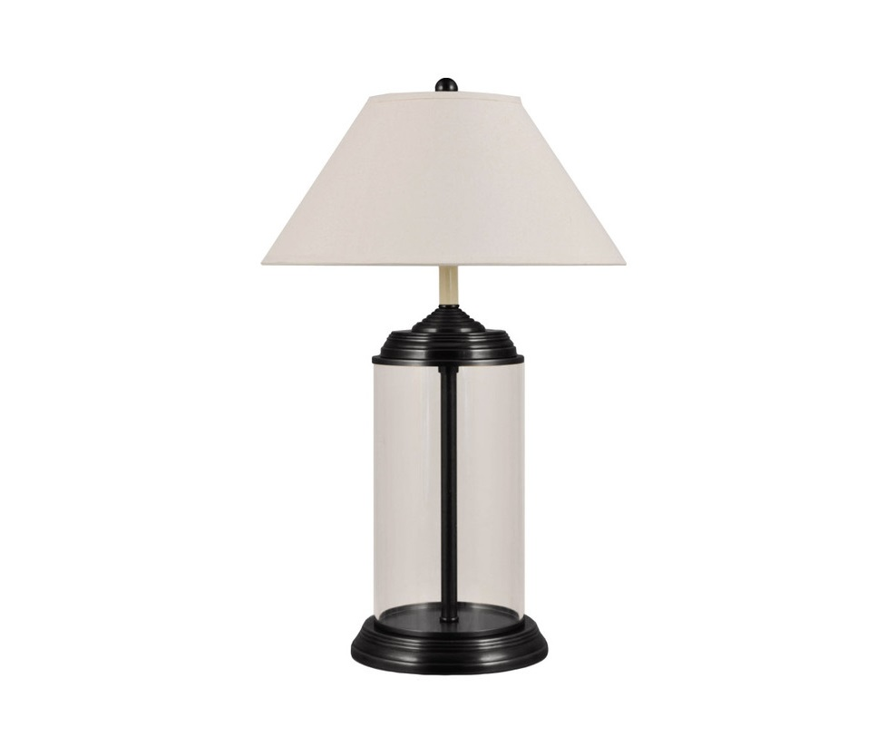 Настольная лампаДекоративные лампы<br>Основание лампы выполнено из стекла. Дизайнеры с помощью этого оригинального решения добились двух целей: конструкция выглядит невесомой и свет лампы отражается от поверхности, рассеиваясь и не вынуждая глаза напрягаться.<br><br>Material: Металл<br>Height см: 79<br>Diameter см: 49