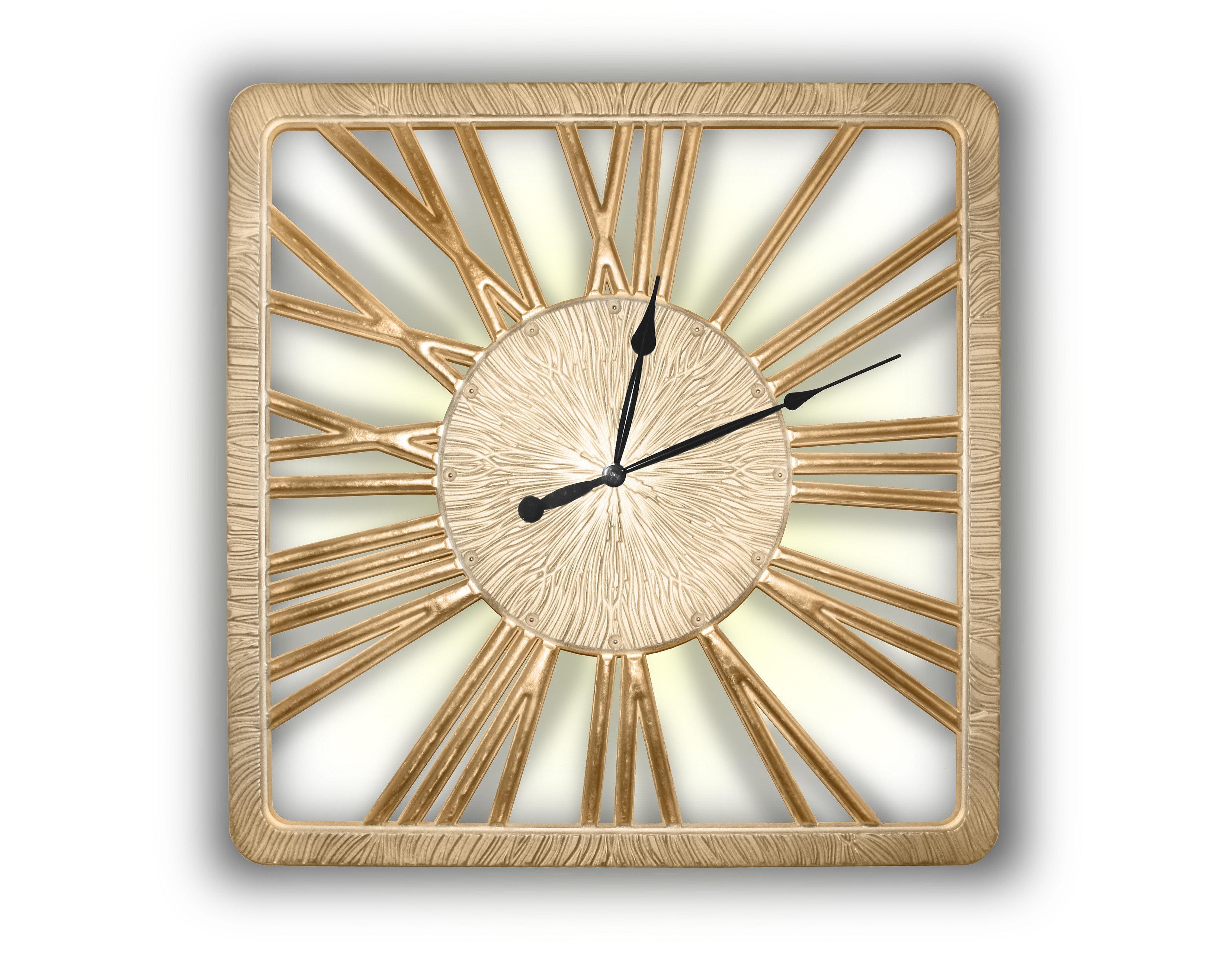 Часы TWINKLE NEWНастенные часы<br>Бег времени непрерывен. Можно ли ощутить, как одна минута переходит в другую? <br>Можно ли предсказать, что открывают нам движущиеся по кругу стрелки часов? <br>Светящиеся прорезные силуэты цифр помогают понять, что лучшее еще впереди. <br>Данный вариант представлен в цвете матовое золото с покрытыми поталью цифрами.&amp;lt;div&amp;gt;&amp;lt;br&amp;gt;&amp;lt;/div&amp;gt;&amp;lt;div&amp;gt;Механизм: Кварцевый&amp;lt;br&amp;gt;&amp;lt;/div&amp;gt;<br><br>Material: Дерево<br>Width см: 90<br>Depth см: 0.8<br>Height см: 90<br>Diameter см: None