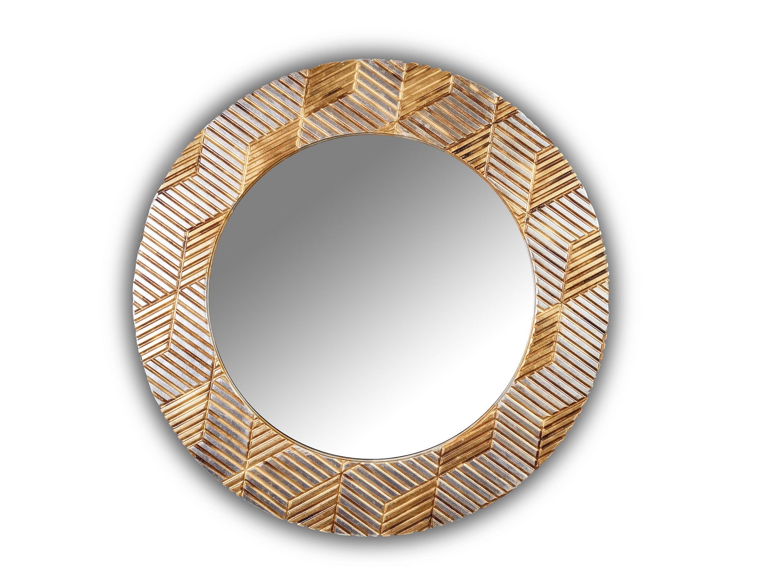Зеркало FASHION ADEPTNESSНастенные зеркала<br>Данный вариант представлен в золотом и серебряном цвете.<br><br>Material: Дерево<br>Depth см: 3.6<br>Height см: None<br>Diameter см: 90