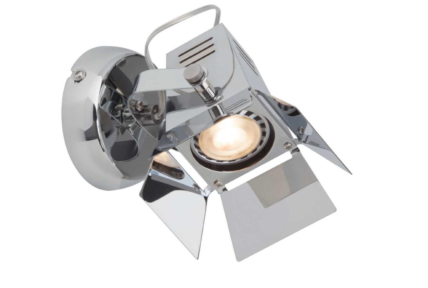 Светильник Movie LEDСпоты<br>&amp;lt;div&amp;gt;Вид цоколя: GU10&amp;lt;/div&amp;gt;&amp;lt;div&amp;gt;Мощность лампы: 5W&amp;lt;/div&amp;gt;&amp;lt;div&amp;gt;Количество ламп: 1&amp;lt;/div&amp;gt;<br><br>Material: Металл<br>Height см: 12,5<br>Diameter см: 15