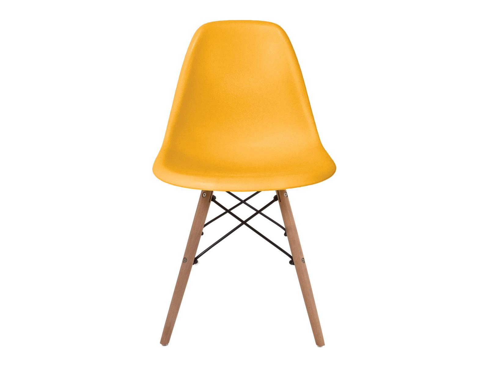 Стул FrankОбеденные стулья<br>В нашей полосе порой так не хватает солнечного света. Не беда! Это кресло - настоящее солнце на ножках. Яркий насыщенный желтый цвет и деревянные ножки напомнят о радостных июльских днях, когда ночь практически не наступает, и согреет вас своей положительной энергетикой!<br><br>Material: Пластик<br>Ширина см: 46<br>Высота см: 82<br>Глубина см: 44
