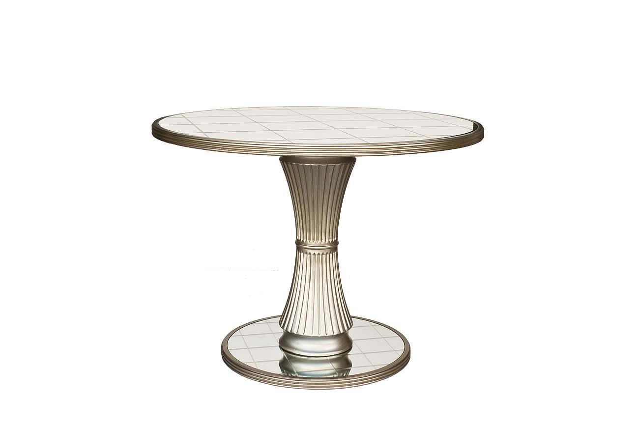 Стол обеденный зеркальныйОбеденные столы<br><br><br>Material: Стекло<br>Height см: 78<br>Diameter см: 105