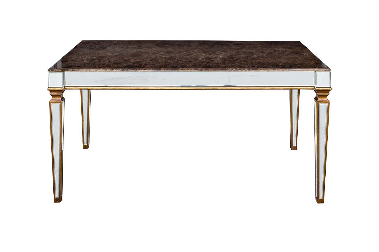 Стол обеденный зеркальныйОбеденные столы<br><br><br>Material: Мрамор<br>Width см: 180<br>Depth см: 90<br>Height см: 78