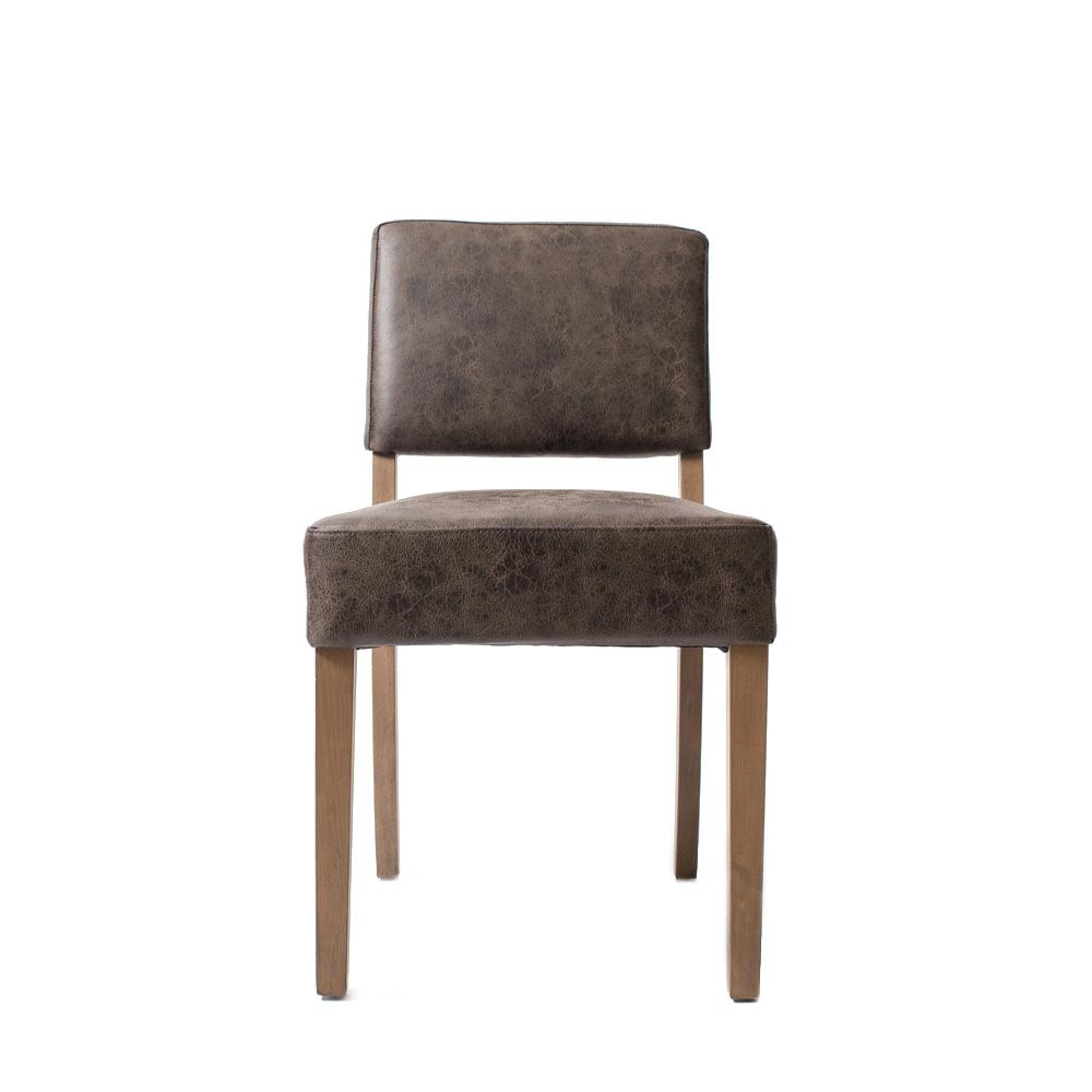 Стул Ottawa Stone GreyОбеденные стулья<br>Простой и элегантный стул  с обивкой из высококачественной искусственной замши (Recycled Leather)  цвет Biker Stone Grey, ножки из массива дуба.<br><br>Material: Кожа<br>Length см: None<br>Width см: 48<br>Depth см: 60<br>Height см: 84<br>Diameter см: None