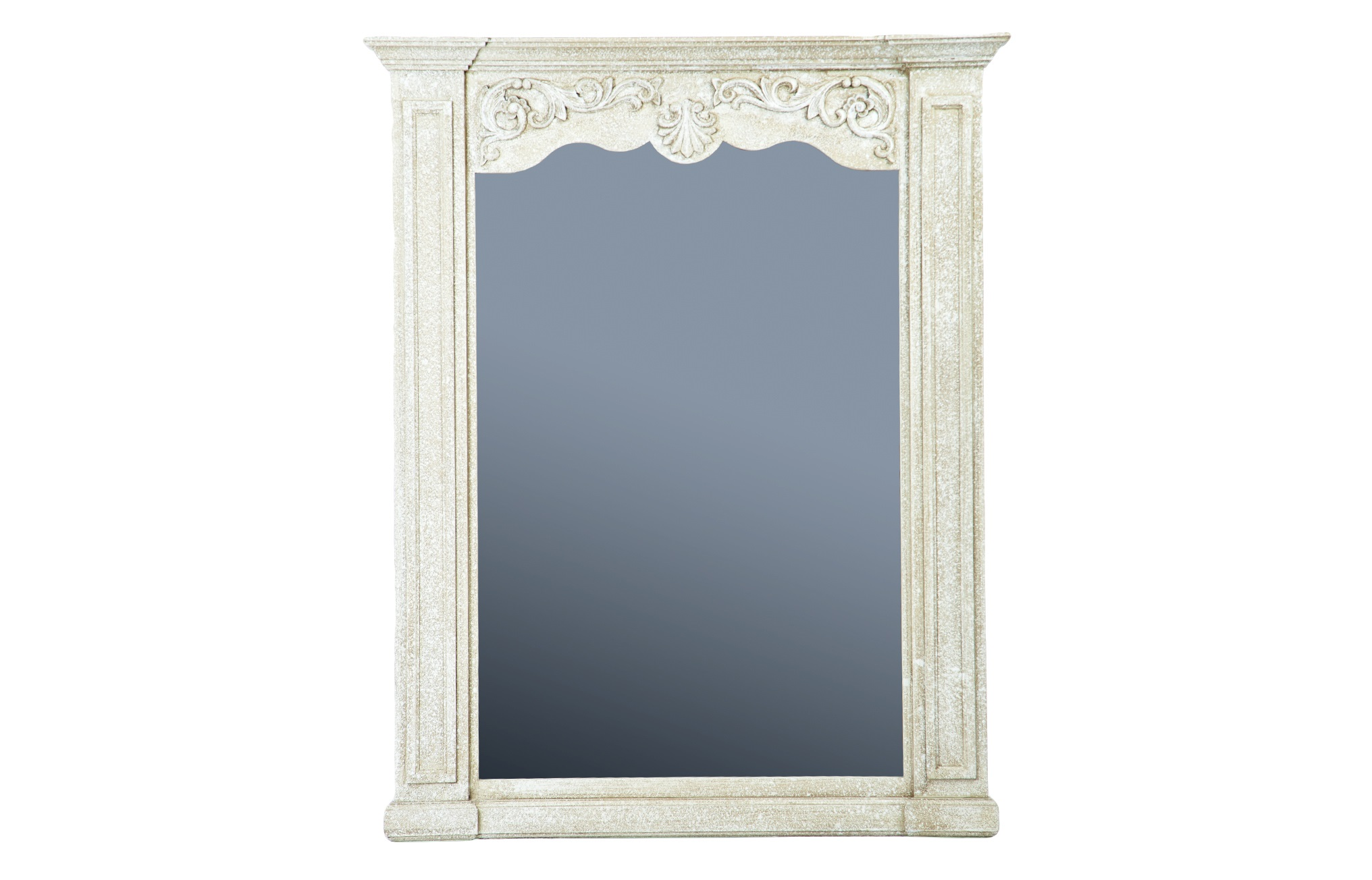 ЗеркалоНастенные зеркала<br>Зеркало в декорированной раме из дерева в классическом стиле, рама украшена патиной. Это винтажное зеркало украсит интерьер любой комнаты в стиле прованс или классика.<br><br>Material: Дерево<br>Ширина см: 133<br>Высота см: 165<br>Глубина см: 10