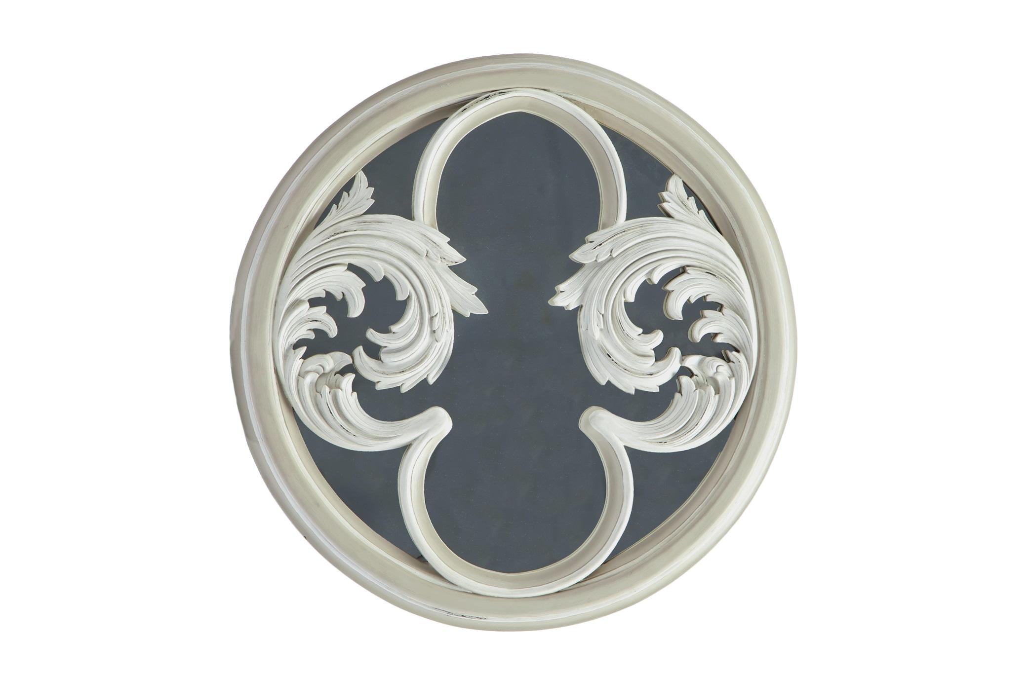 Зеркало Дебюсси ГрандНастенные зеркала<br>Зеркало в круглой раме из дерева махагони с резным декором.<br><br>Material: Красное дерево