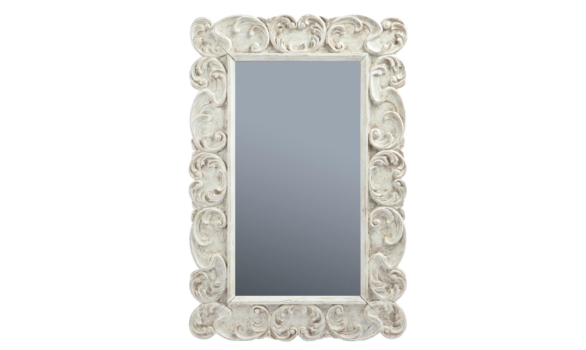 Зеркало «Модерн»Настенные зеркала<br>Зеркало в резной раме из дерева махагони, декорированной патиной и старением.<br><br>Material: Красное дерево<br>Width см: 100<br>Height см: 150