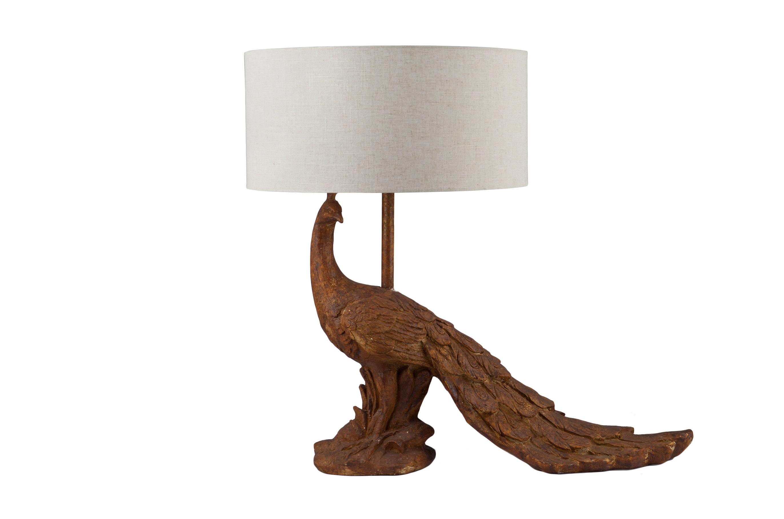 Лампа «Павлин»Декоративные лампы<br>Лампа настольная на декоративной ножке в виде павлина.<br><br>Material: Металл