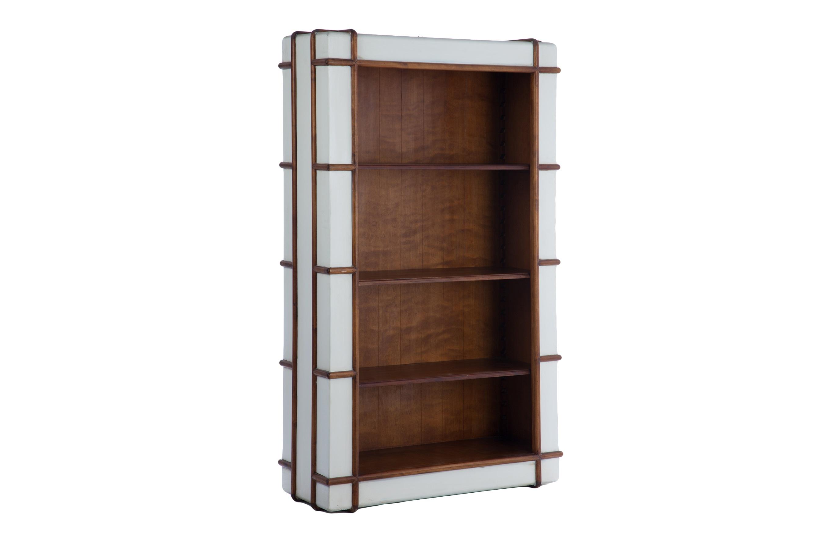 Книжный шкафСтеллажи и этажерки<br>Книжный шкаф из массива березы ручной работы с оригинальной отделкой.<br><br>Material: Береза<br>Ширина см: 112<br>Высота см: 183<br>Глубина см: 42