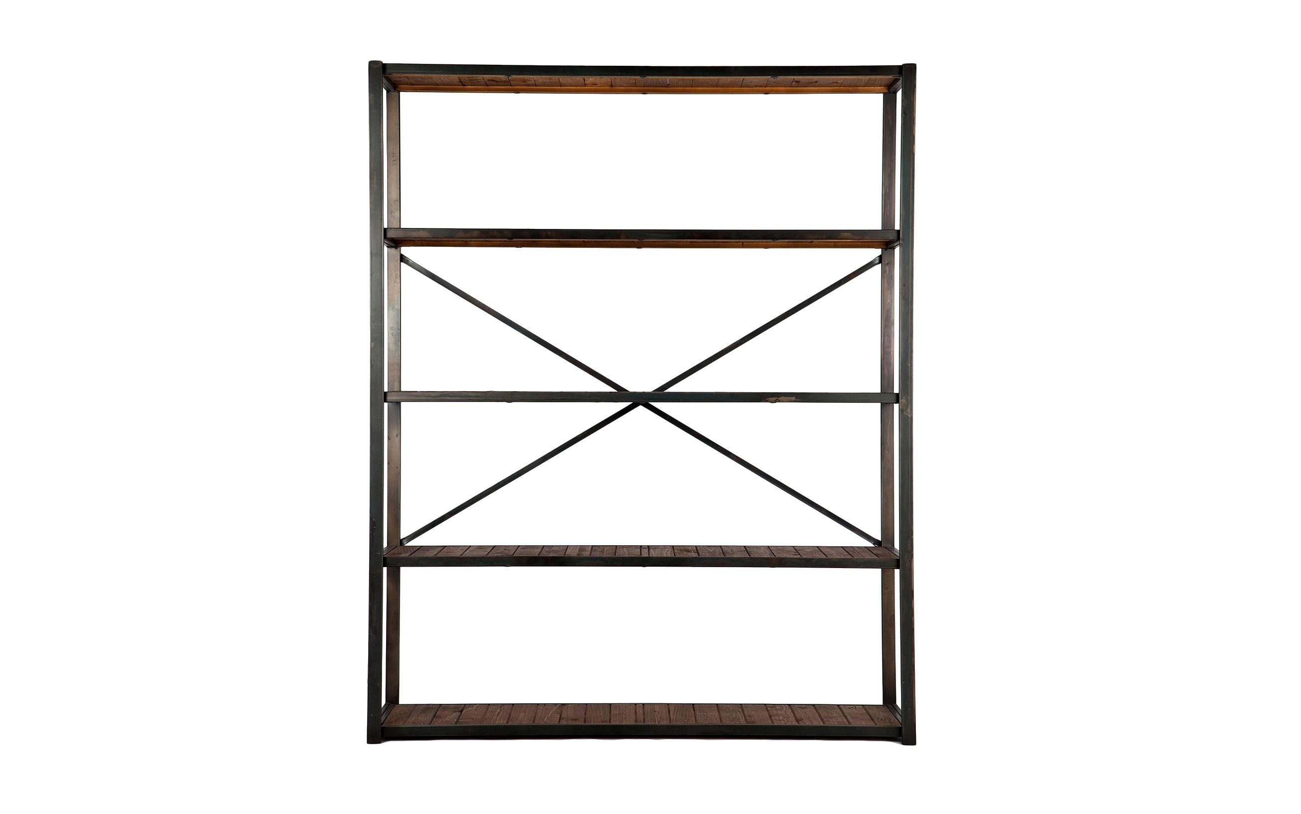 ЭтажеркаСтеллажи и этажерки<br>Этажерка в стиле лофт из металла с полками из дерева.<br><br>Material: Металл<br>Width см: 160<br>Depth см: 47<br>Height см: 198