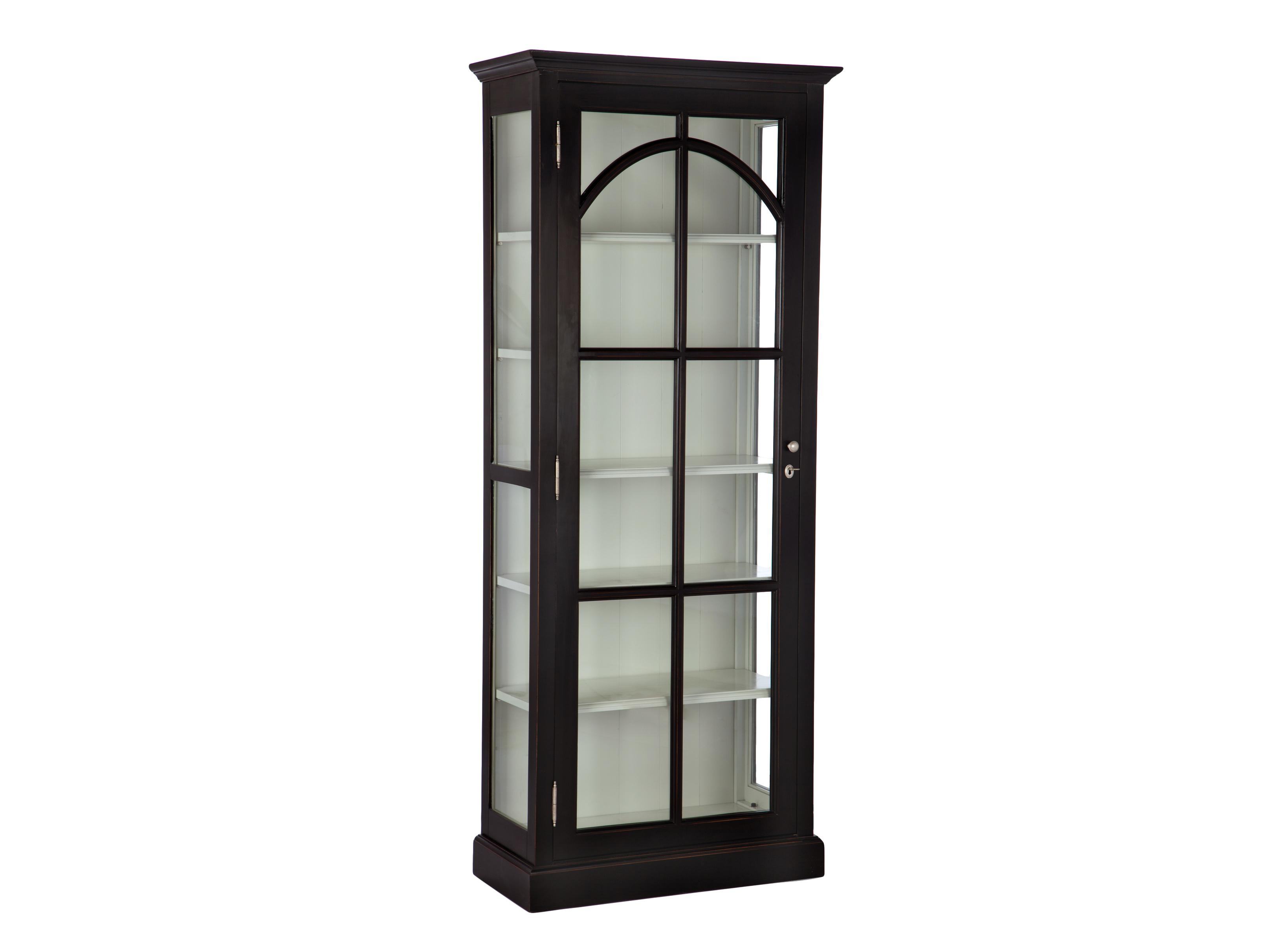 ВитринаВитрины<br>Узкая витрина из дерева со стеклом по бокам и на декорированной дверце.&amp;amp;nbsp;&amp;lt;div&amp;gt;&amp;lt;br&amp;gt;&amp;lt;/div&amp;gt;<br><br>Material: Береза<br>Width см: 79<br>Depth см: 40<br>Height см: 200