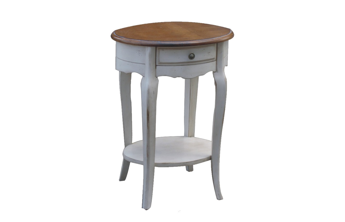 Приставной столик Blanc bonbonПриставные столики<br>Маленькие детали способны придать завершенность и целостность любому интерьеру. К такого рода вещам можно отнести и столик &amp;quot;Blanc Bonbon&amp;quot;, созданный для дополнения комнат в прованском стиле. Пропитанный атмосферой загородного уюта, он отличается особенной красотой. В ней изысканность и элегантность встречаются с винтажной простотой, создавая уникальный дизайн.&amp;amp;nbsp;<br><br>Material: Дерево<br>Ширина см: 43<br>Высота см: 72