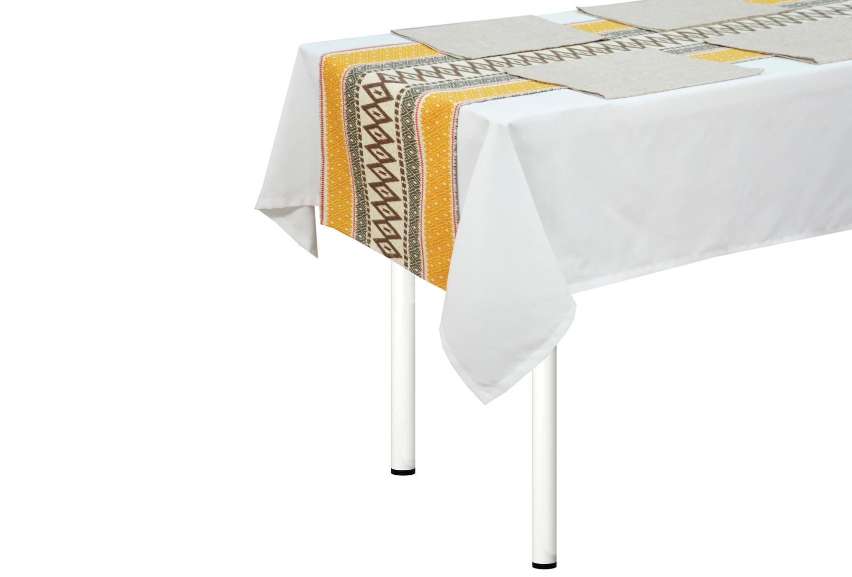 Комплект Girona дорожка на стол, салфетки (4 шт)Скатерти<br>Комплект столовый узкая скатерть и 4 салфетки 43х43 см. украсят васш стол и сделают обычный завтрак необычным.<br><br>Material: Хлопок<br>Length см: None<br>Width см: 170<br>Height см: 40