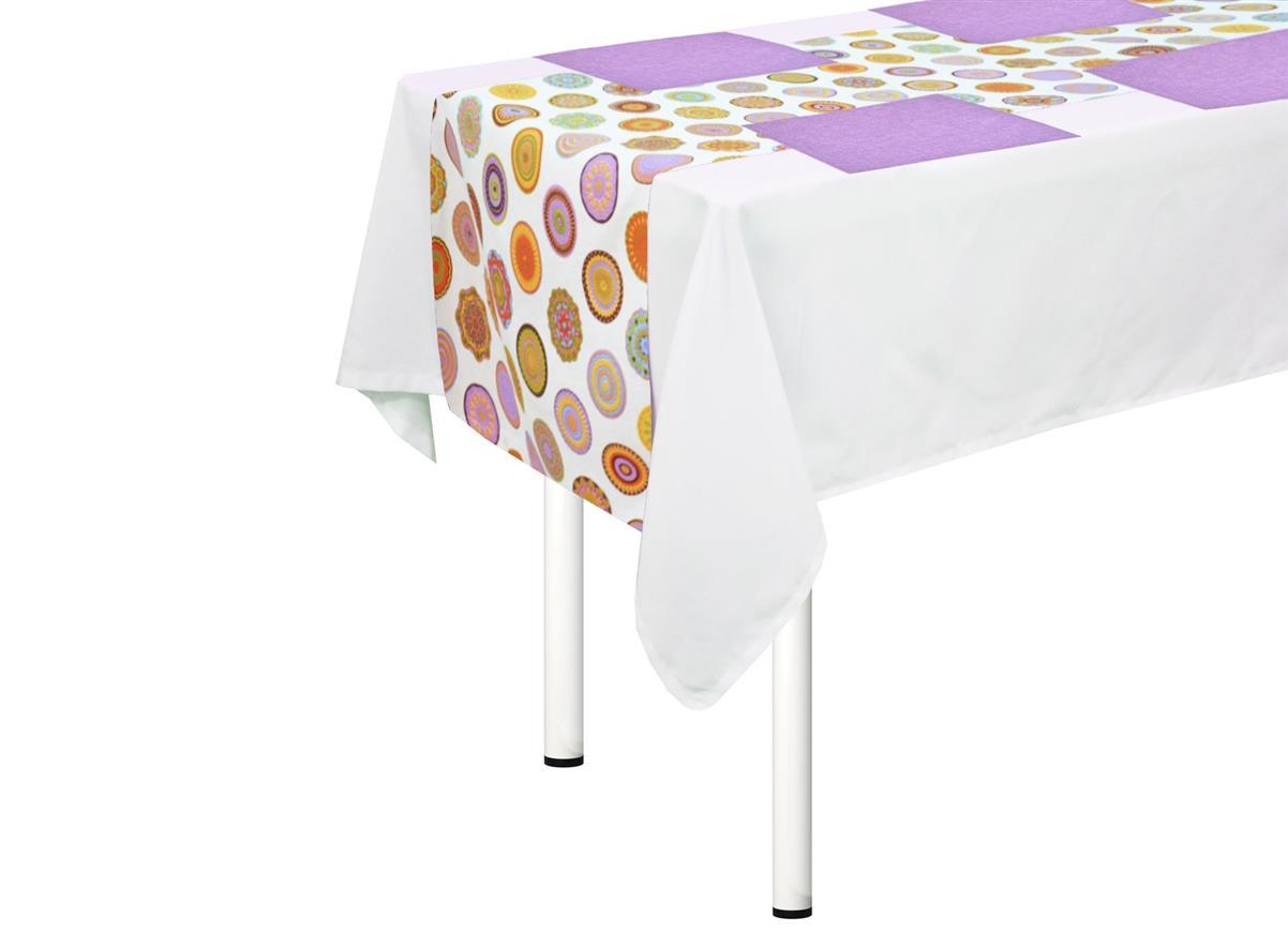 Комплект на стол Toledo дорожка + салфетки (4шт)Скатерти<br>Комплект столовый узкая скатерть и 4 салфетки 45х45 см.  украсят васш стол и сделают обычный завтрак необычным.<br><br>Material: Хлопок<br>Length см: None<br>Width см: 170<br>Height см: 40