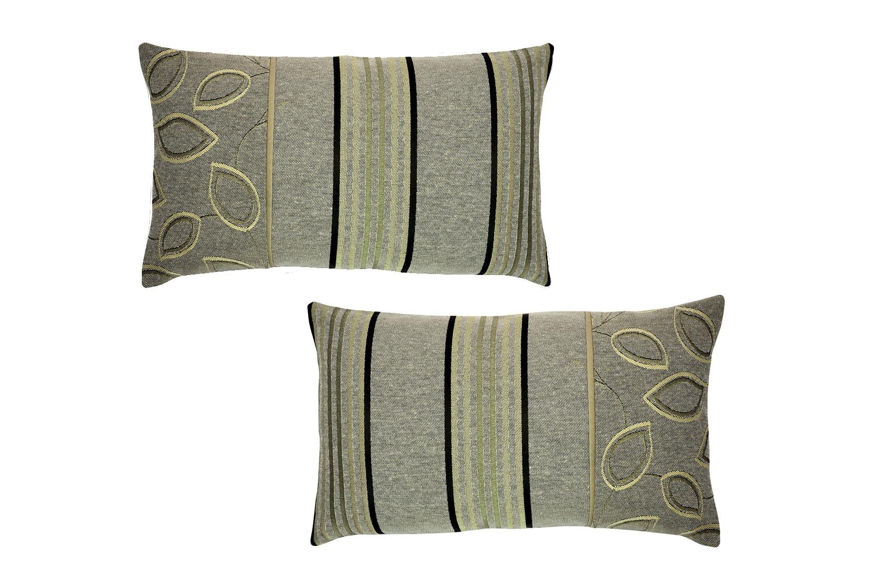 Комплект подушек Spring Leaf (2шт)Прямоугольные подушки и наволочки<br>Комплект декоративных  подушек. Чехол съемный.<br><br>Material: Вискоза<br>Length см: None<br>Width см: 50<br>Depth см: 15<br>Height см: 30