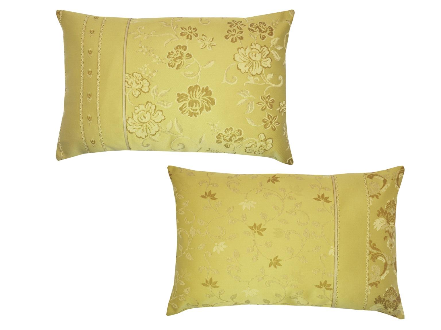 Комплект подушек Beatrice Yellow (2шт)Прямоугольные подушки и наволочки<br>Комплект декоративных  подушек. Чехол съемный.<br><br>Material: Вискоза<br>Length см: None<br>Width см: 55<br>Depth см: 15<br>Height см: 35