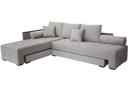 Угловой диван берн нео (modern classic) серый 284x91x201 см.