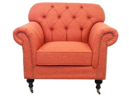 Кресло kavita (mak-interior) оранжевый 96x88x90 см.