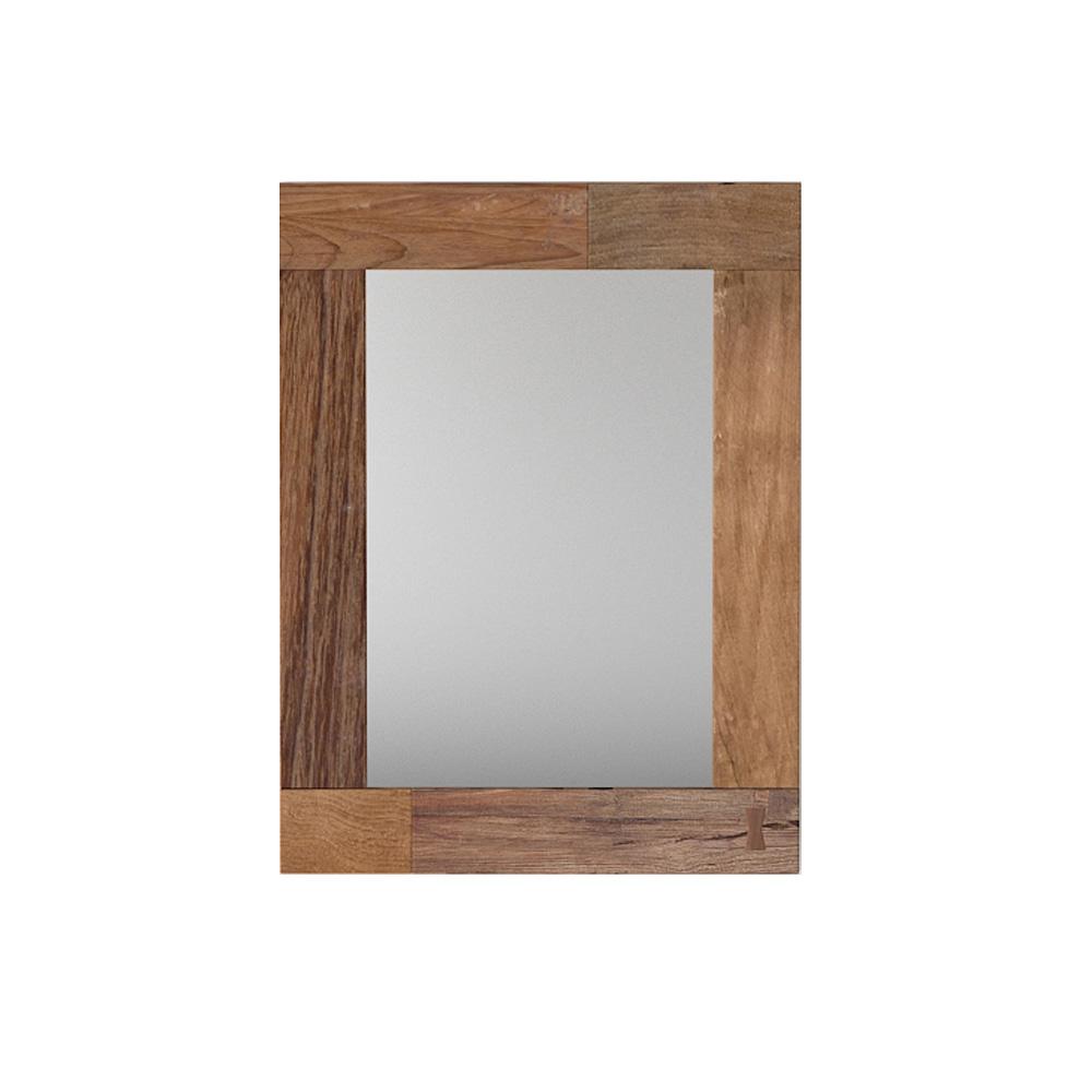 Зеркало FlemingНастенные зеркала<br>&amp;lt;div&amp;gt;Рама зеркала собрана из тиковых плашек светлых оттенков. Все элементы подогнаны друг к другу с ювелирной точностью. А просматриваемые соединительный швы – исключительно дизайнерская задумка. По-хорошему неброское и аккуратное, зеркало Fleming 80 будет «своим» в любом помещении, вне зависимости от его предназначения и дизайна.&amp;lt;/div&amp;gt;&amp;lt;div&amp;gt;Отдельного упоминания заслуживают такая особенность тика, как природная устойчивость к внешнему воздействию. Он не нуждается в обработке специальными средствами, которыми обычно защищают деревянную мебель. На практике это значит, что Fleming 80 – экологически чистое изделие из натуральных материалов с буквально бесконечным сроком службы.&amp;lt;/div&amp;gt;<br><br>Material: Тик<br>Ширина см: 60<br>Высота см: 80<br>Глубина см: 3