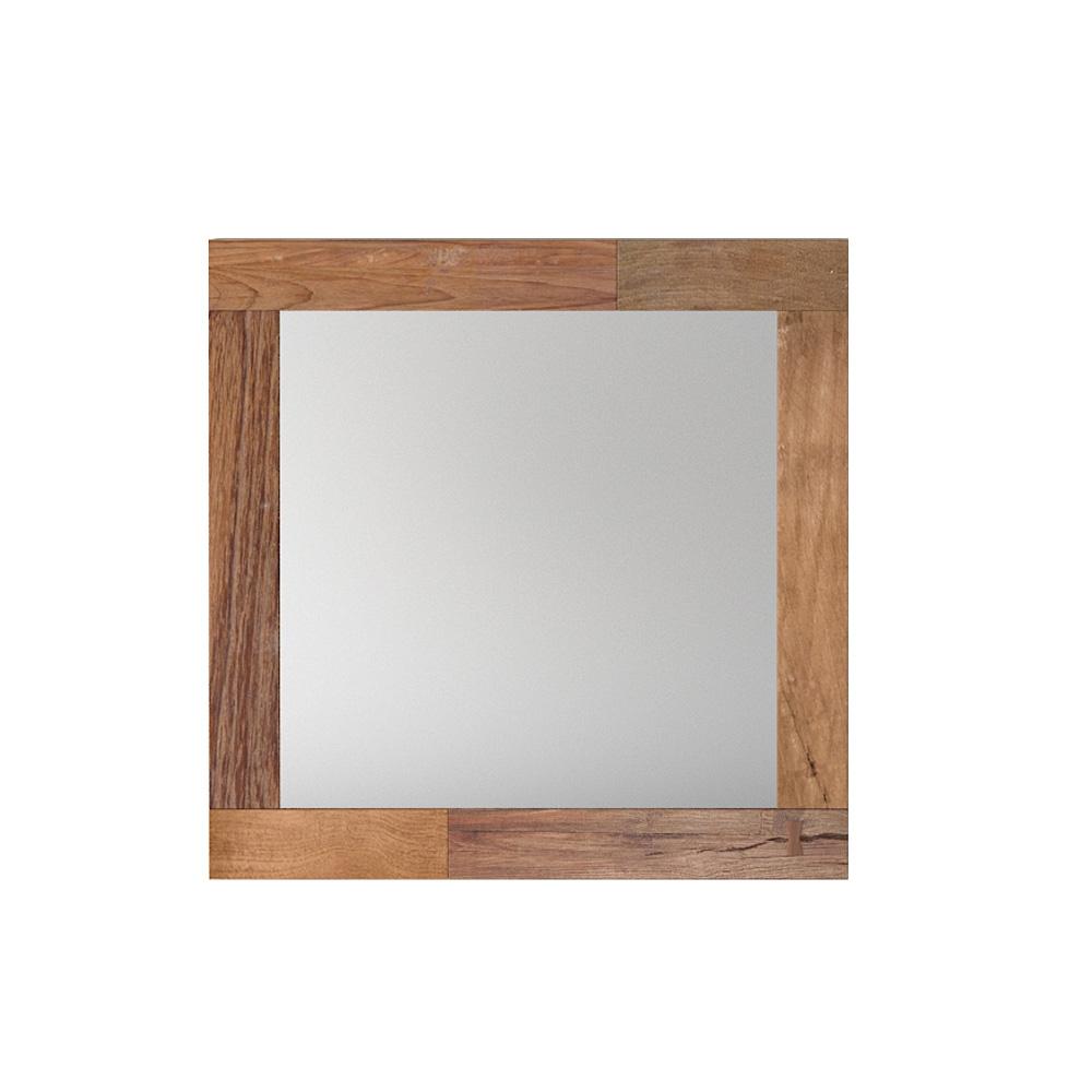 Зеркало Benary SQНастенные зеркала<br>&amp;lt;div&amp;gt;Зеркало Benary – образец стильного минимализма. Форма – строгих пропорций квадрат 90 см на 90 см. Рама собрана из тиковых плашек. Цвет – сочетание светлых оттенков натурального, необработанного дерева.&amp;lt;/div&amp;gt;&amp;lt;div&amp;gt;Тиковая древесина обладает уникальным свойством: она не требует пропитки и покрытия специальными средствами. Потому изделия из тика устойчивы ко внешнему воздействию сами по себе. Если вы планируете повесить своё новое зеркало в ванной комнате, будьте уверены – Benary прекрасно справится с высокой влажностью и перепадами температуры. А также, где бы оно ни находилось, зеркало будет источать еле заметный приятный аромат тропического дерева.&amp;lt;/div&amp;gt;<br><br>Material: Тик<br>Length см: None<br>Width см: 90<br>Depth см: 3<br>Height см: 90<br>Diameter см: None