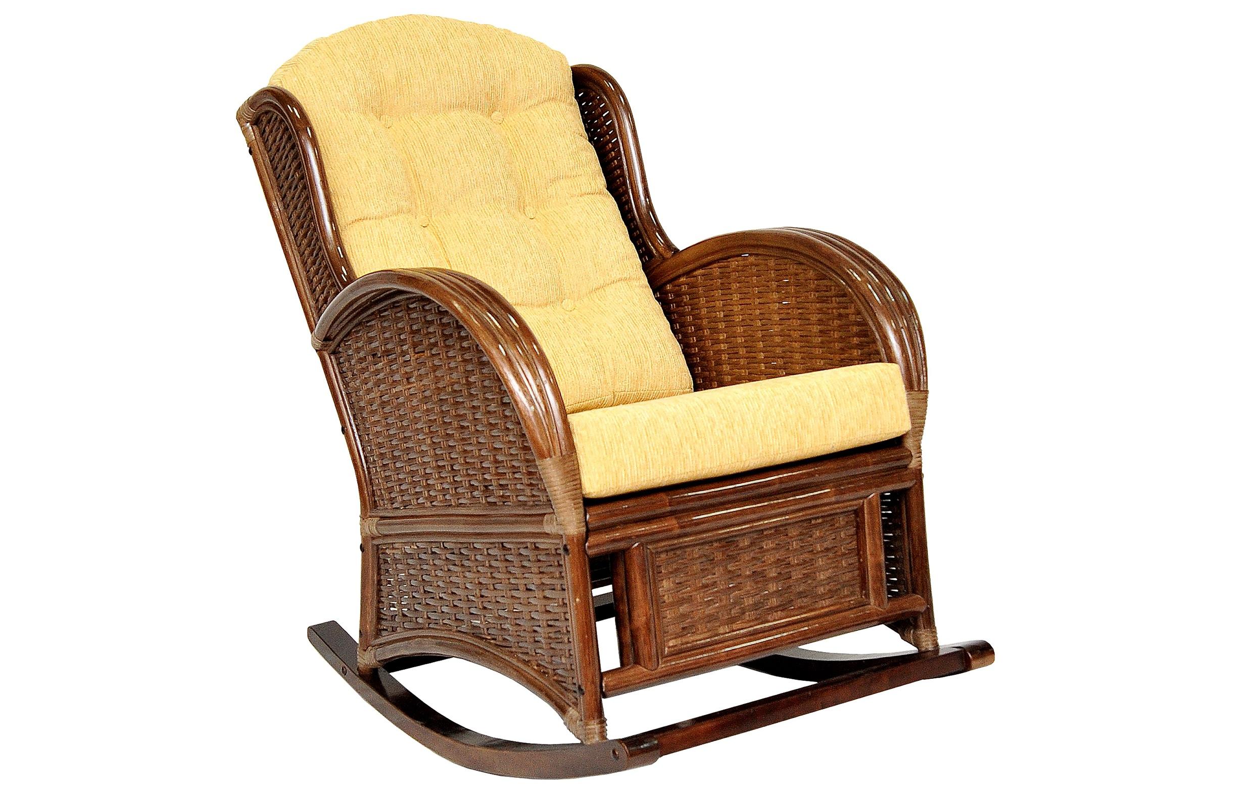 Кресло-качалка Wing-RКресла-качалки<br>Подлокотники кресла выполнены из соединенных между собой трех стволов ротанга. Боковины и спинку украшает оригинальное плетение из расщепленного ротанга.&amp;lt;div&amp;gt;&amp;lt;br&amp;gt;&amp;lt;/div&amp;gt;&amp;lt;div&amp;gt;Материал каркаса: натуральный ротанг.&amp;lt;/div&amp;gt;&amp;lt;div&amp;gt;Материал подушки: шенилл.&amp;lt;/div&amp;gt;&amp;lt;div&amp;gt;Особенности:  сборно-разборная, полозья – дерево махагони.&amp;lt;/div&amp;gt;&amp;lt;div&amp;gt;Выдерживаемая нагрузка:  120 кг.&amp;lt;/div&amp;gt;<br><br>Material: Ротанг<br>Width см: 74<br>Depth см: 110<br>Height см: 102