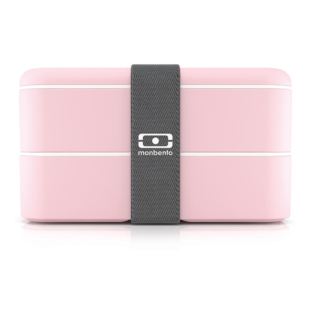 Ланч-бокс mb original new edition litchi (monbento) розовый 19x10x9 см. фото