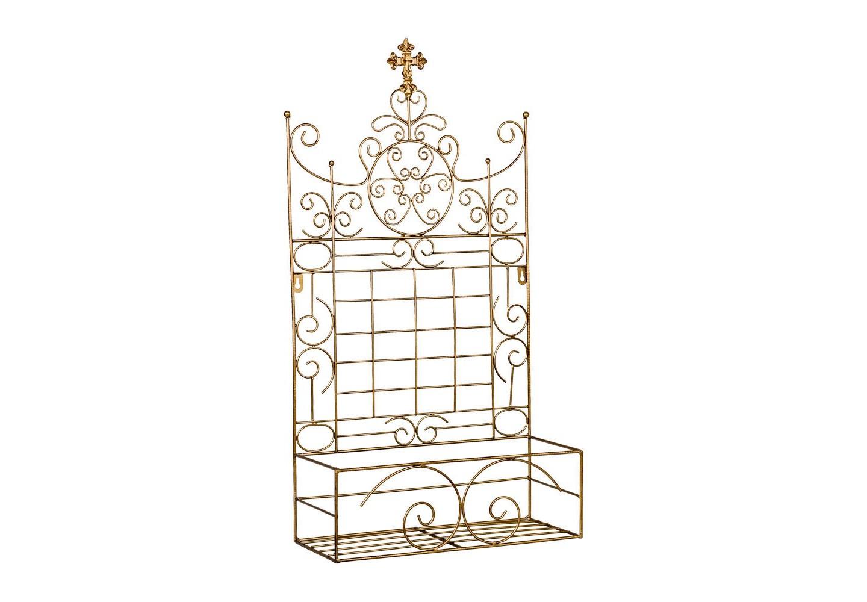 Полка Пале-РояльПолки<br>Виртуозно балансируя между декором и практичностью, благородством и роскошью, классицизмом и &amp;quot;лофтом&amp;quot;, полка &amp;quot;Пале-Рояль&amp;quot; претендует угодить самым разнообразным эстетическим вкусам. Рациональный размер адресует её гостиной, детской, столовой и ванной комнатам, холлу и прихожей, лоджии и веранде, городским квартирам и загородным домам. Изящный готический шпиль венчает гербовое плетение королевских лилий, иллюстрирующих древнюю французскую родословную этого роскошного дизайна. Благородные отблески бургундской бронзы внушают ауру романтики и умиротворения.<br>&amp;lt;div&amp;gt;&amp;lt;br&amp;gt;&amp;lt;/div&amp;gt;<br>&amp;lt;iframe width=&amp;quot;530&amp;quot; height=&amp;quot;315&amp;quot; src=&amp;quot;https://www.youtube.com/embed/MDYV1hT42Qs&amp;quot; frameborder=&amp;quot;0&amp;quot; allowfullscreen=&amp;quot;&amp;quot;&amp;gt;&amp;lt;/iframe&amp;gt;<br><br>Material: Металл<br>Width см: 35<br>Depth см: 13<br>Height см: 66
