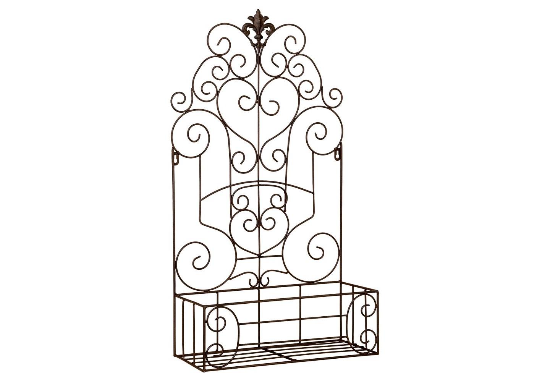 Полка-жардиньерка Люксембургский садПолки<br>Полка-жардиньерка &amp;quot;Люксембургский сад&amp;quot; предлагает целый список полезных свойств: просторная открытая форма, безупречный дворцовый дизайн, удобное крепление, универсальное применение в любых домашних и дачных помещениях, от прихожей до лоджии. Для гостиной комнаты и лоджии &amp;quot;Люксембургский сад&amp;quot; станет восхитительным цветником. В столовой она пригодится для хранения специй и масел, баночек с медом и чаем. Особый восторг ожидает детскую комнату, где непременно нужна выставка любимых игрушек, книг и компакт-дисков.<br><br>Material: Металл<br>Width см: 39<br>Depth см: 17<br>Height см: 71