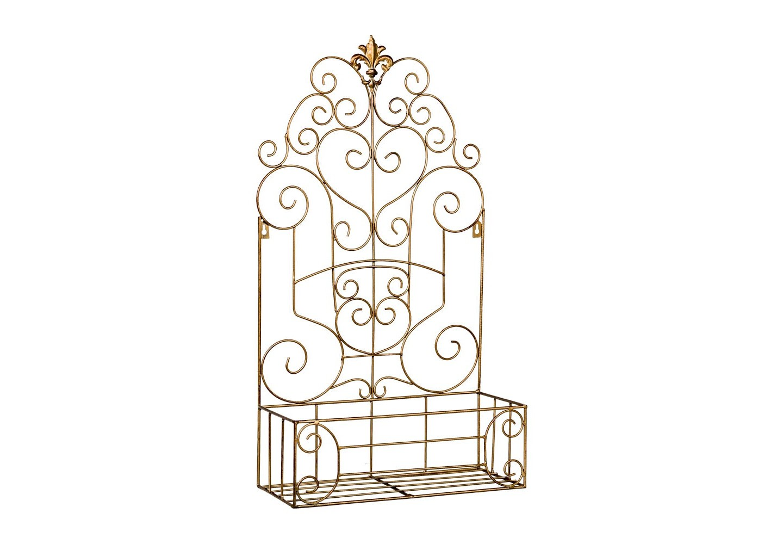 Полка-жардиньерка Люксембургский садПолки<br>Полка-жардиньерка &amp;quot;Люксембургский сад&amp;quot; - находчивое и разностороннее интерьерное произведение. Для одних оно станет роскошным настенным панно. Другие выберут его в качестве комфортабельного органайзера для бытовых предметов. Третьи превратят эту декоративную полочку в домашнюю оранжерею, особое удобство при этом достанется вьющимся и ампельным растениям. В любом случае, решающим фактором станут королевский бронзовый цвет и кружевной дворцовый узор, придающие аксессуару имидж роскоши и благородства.  <br>&amp;lt;div&amp;gt;&amp;lt;br&amp;gt;&amp;lt;/div&amp;gt;<br>&amp;lt;iframe width=&amp;quot;530&amp;quot; height=&amp;quot;315&amp;quot; src=&amp;quot;https://www.youtube.com/embed/MDYV1hT42Qs&amp;quot; frameborder=&amp;quot;0&amp;quot; allowfullscreen=&amp;quot;&amp;quot;&amp;gt;&amp;lt;/iframe&amp;gt;<br><br>Material: Металл<br>Ширина см: 39.0<br>Высота см: 71.0<br>Глубина см: 17.0