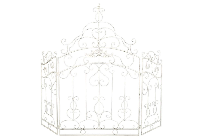 Каминный экран «Клермон»Другое<br>Каминный экран «Клермон», избравший имидж роскошных королевских ворот, беспрекословно становится центром интерьерного внимания. Прозрачный кружевной узор режиссирует атмосферу простора и невесомости, свежести и света. Богатый дворцовый орнамент придает интерьеру архитектурную значимость. Классический белый цвет заведомо гармоничен любому нтерьерному фону. Складные экраны практичнее плоских. Трехстворчатая конструкция позволяет моделировать форму, регулируя длину и глубину экрана согласно планировке.&amp;lt;div&amp;gt;&amp;lt;br&amp;gt;&amp;lt;/div&amp;gt;&amp;lt;div&amp;gt;&amp;lt;br&amp;gt;&amp;lt;/div&amp;gt;&amp;lt;iframe width=&amp;quot;530&amp;quot; height=&amp;quot;315&amp;quot; src=&amp;quot;https://www.youtube.com/embed/CPT6ERkaX1Y&amp;quot; frameborder=&amp;quot;0&amp;quot; allowfullscreen=&amp;quot;&amp;quot;&amp;gt;&amp;lt;/iframe&amp;gt;<br><br>Material: Металл<br>Width см: 117<br>Height см: 101