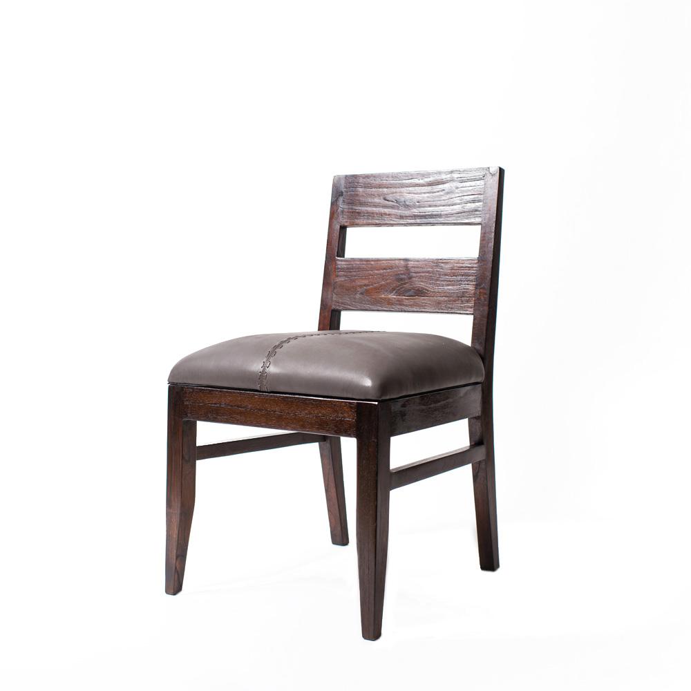 Стул Hamilton GLОбеденные стулья<br>Стул из массива тика. Подходит не только для столовой зоны, но также и для кабинета. Подушка сиденья выполнена из кожи серого цвета.<br><br>Material: Тик<br>Length см: None<br>Width см: 48<br>Depth см: 55<br>Height см: 87<br>Diameter см: None