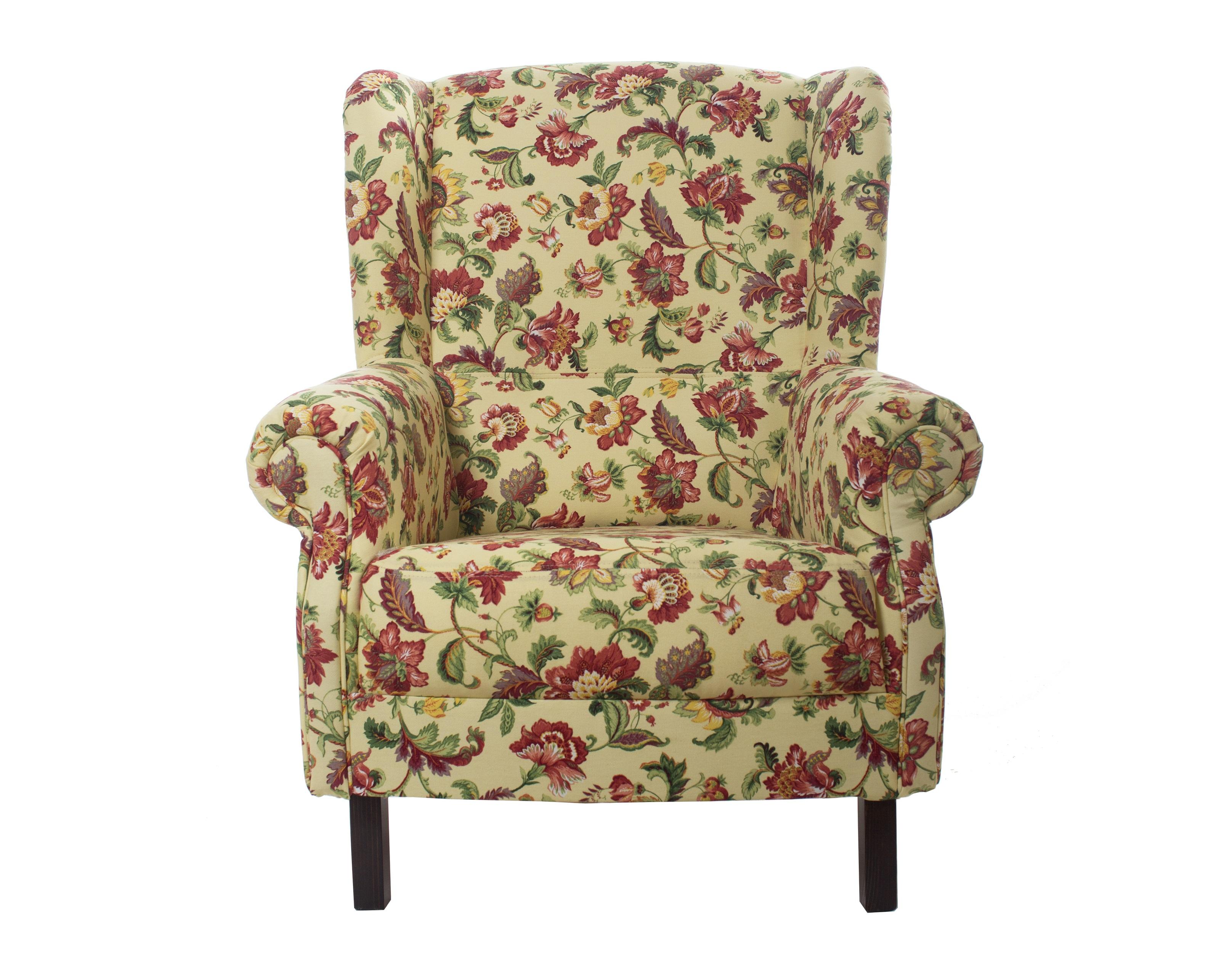 """Кресло с цветочным орнаментом """"Цветы Прованса"""""""