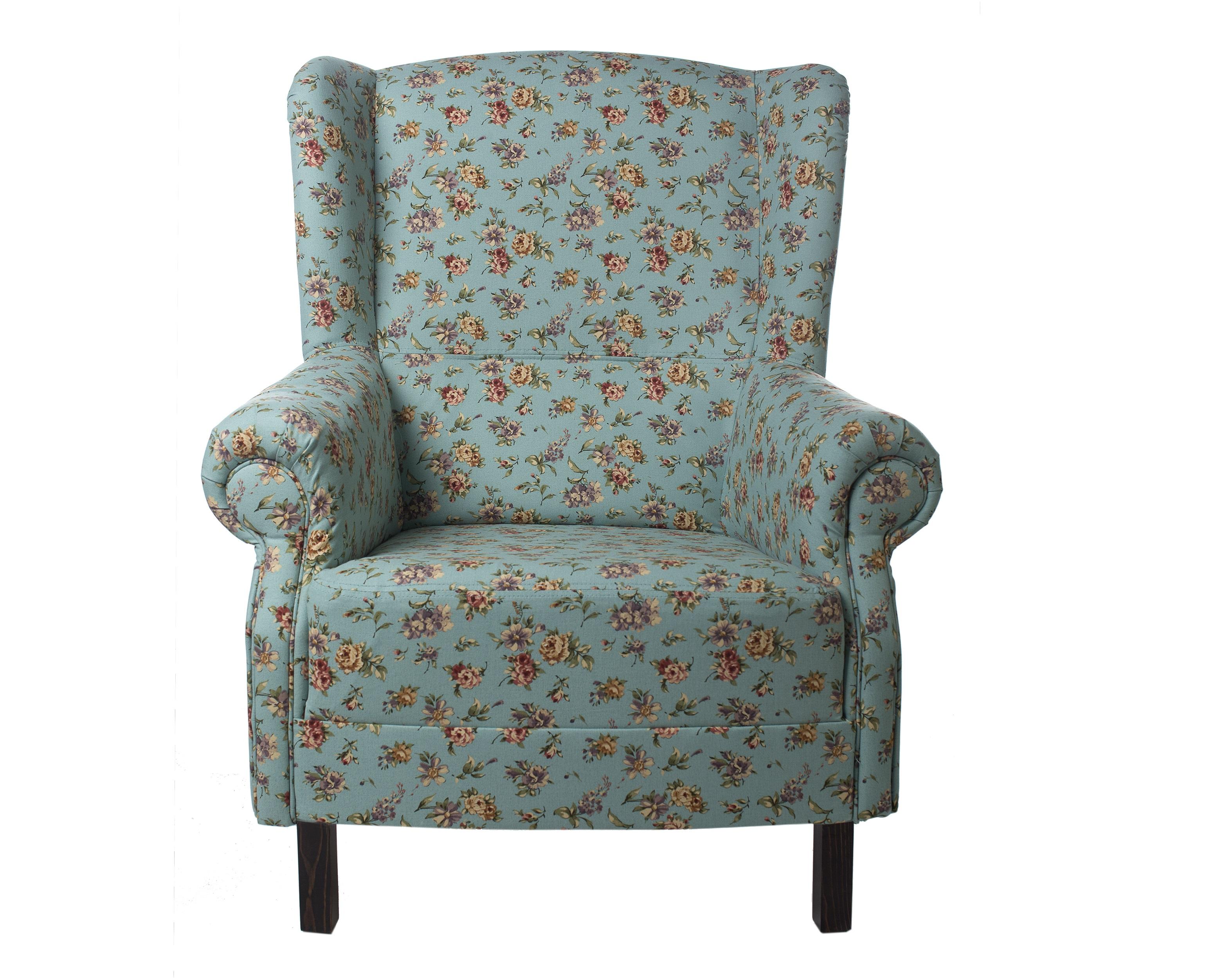 """Кресло с мелким цветочным орнаментом """"Цветы Прованса"""""""