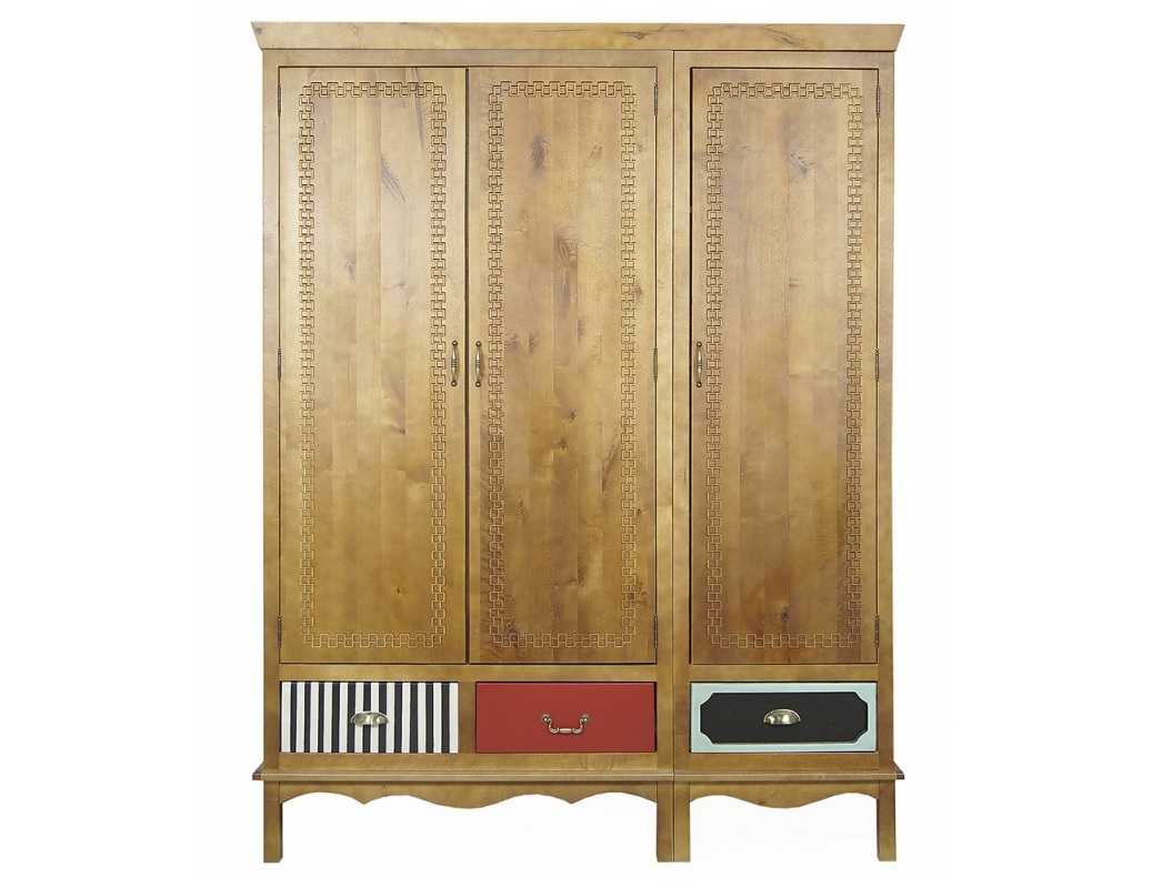 Шкаф трехстворчатый Gouache BirchПлатяные шкафы<br><br><br>Material: Береза<br>Ширина см: 150<br>Высота см: 200<br>Глубина см: 60