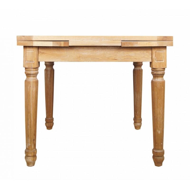 Стол обеденный раскладной CountryОбеденные столы<br>Размер столешницы в разложенном виде: 150х90 см.<br><br>Material: Дуб<br>Width см: 90<br>Depth см: 90<br>Height см: 78