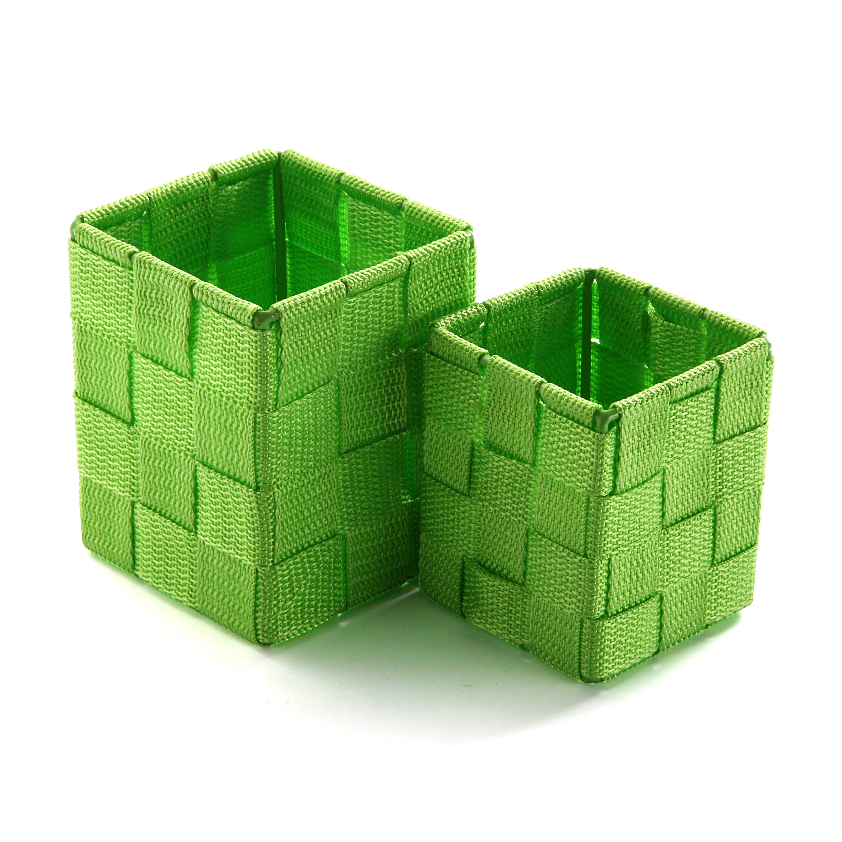 Набор корзин для хранения (2шт)Корзины<br>1.большая корзина 35*12*12см, 2.маленькая корзина 28*10*10см.<br><br>Material: Хлопок