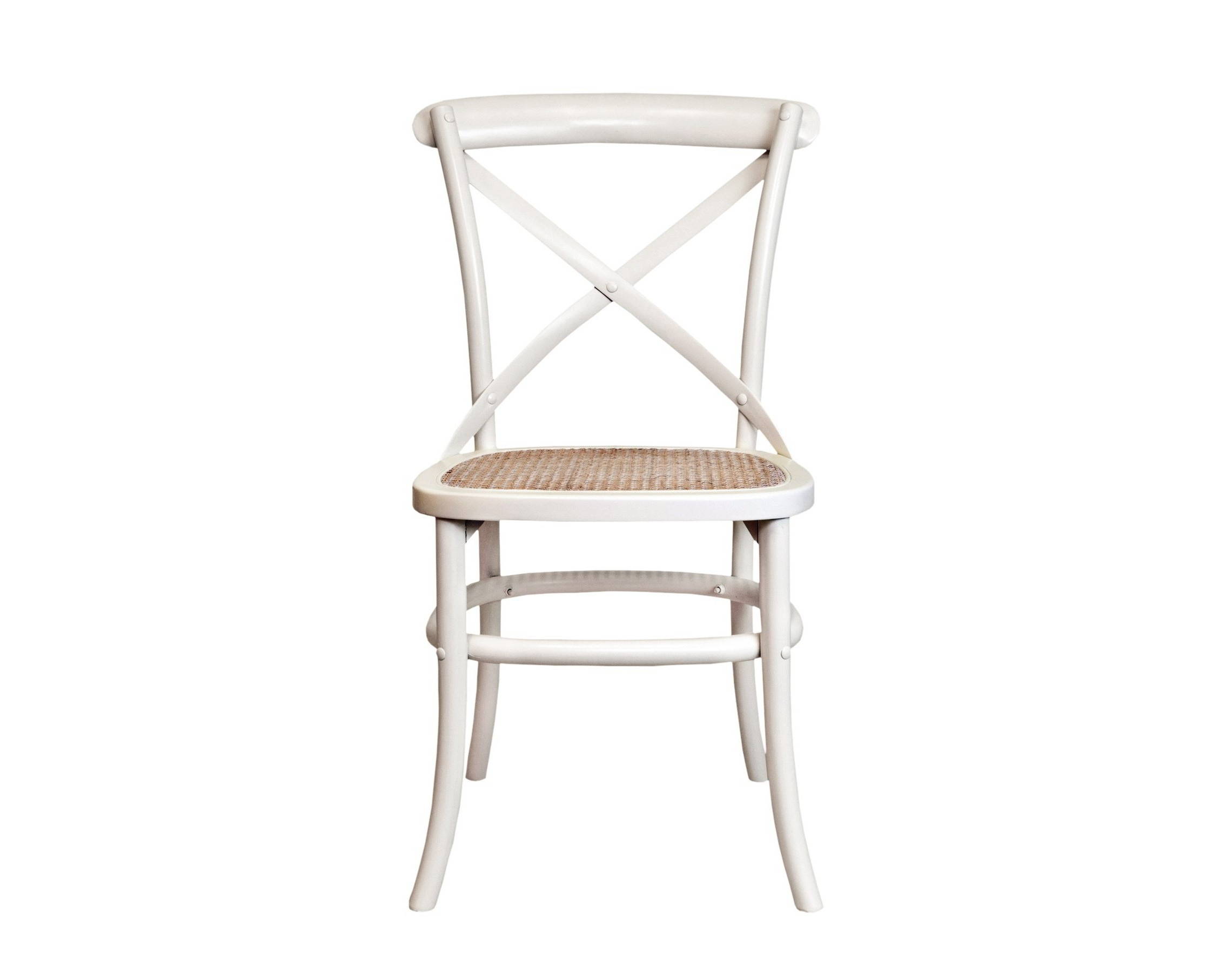Стул Cross back whiteОбеденные стулья<br>Одна из самых популярных моделей стульев в духе кафе Европы. Удобная крестообрзная спинка, в сочетании с сидением из ротанга придает стулу невероятный комфорт. Стул отлично подходит как для домашнего интерьера, так и для кафе.&amp;amp;nbsp;<br><br>Material: Береза<br>Ширина см: 50<br>Высота см: 89<br>Глубина см: 54