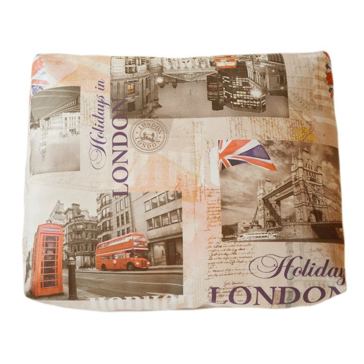 Подушка декоративная Каникулы в ЛондонеПрямоугольные подушки и наволочки<br>нежный велюр, классическая форма и яркая расцветка<br><br>Material: Велюр<br>Width см: 45<br>Depth см: 10<br>Height см: 35