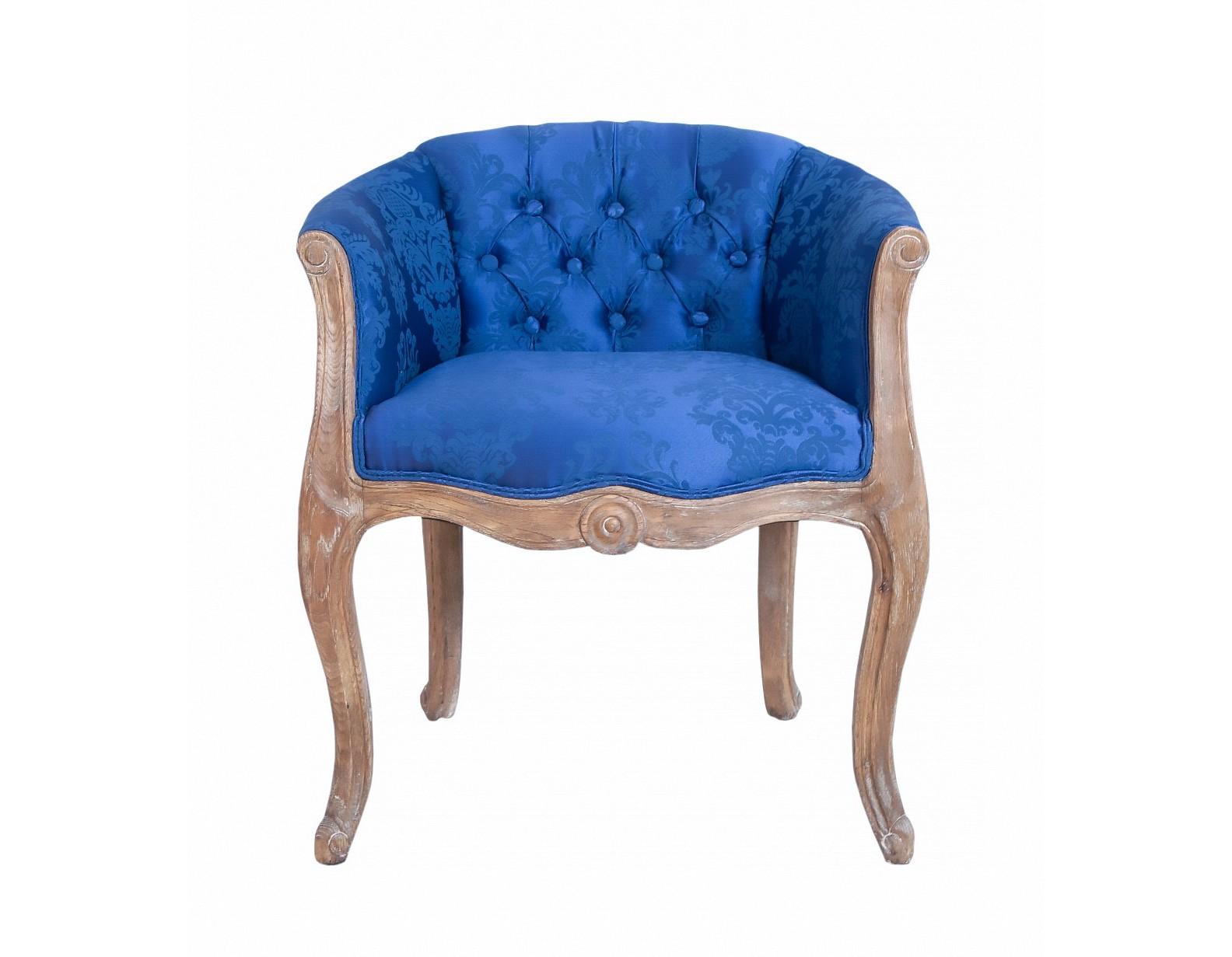 Кресло Kandy blueПолукресла<br>Роскошные классические формы кресла Kandy как нельзя лучше передают настроения французского стиля прованс. Кресло с основанием из натурального дерева,искусственно состаренног, для придания эффекта винтажности, спинка выполнена в технике каретная стяжка.Такое очаровательное кресло отлично уживется в интерьере классического современного стиля гостиннй или спальне.&amp;amp;nbsp;<br><br>Material: Текстиль<br>Ширина см: 64<br>Высота см: 68<br>Глубина см: 56