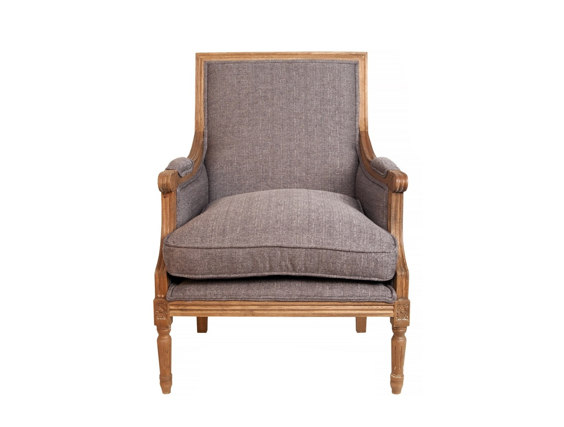 Кресло Coolman greyИнтерьерные кресла<br>Сдержанное и элегантное кресло Coolman grey это удобная стильная модель на прочном каркасе из массива дерева. Эта модель станет удачным дополнением гостиной, столовой или спальни, оформленной в классическом стиле.&amp;amp;nbsp;<br><br>Material: Лен<br>Width см: 68<br>Depth см: 67<br>Height см: 95