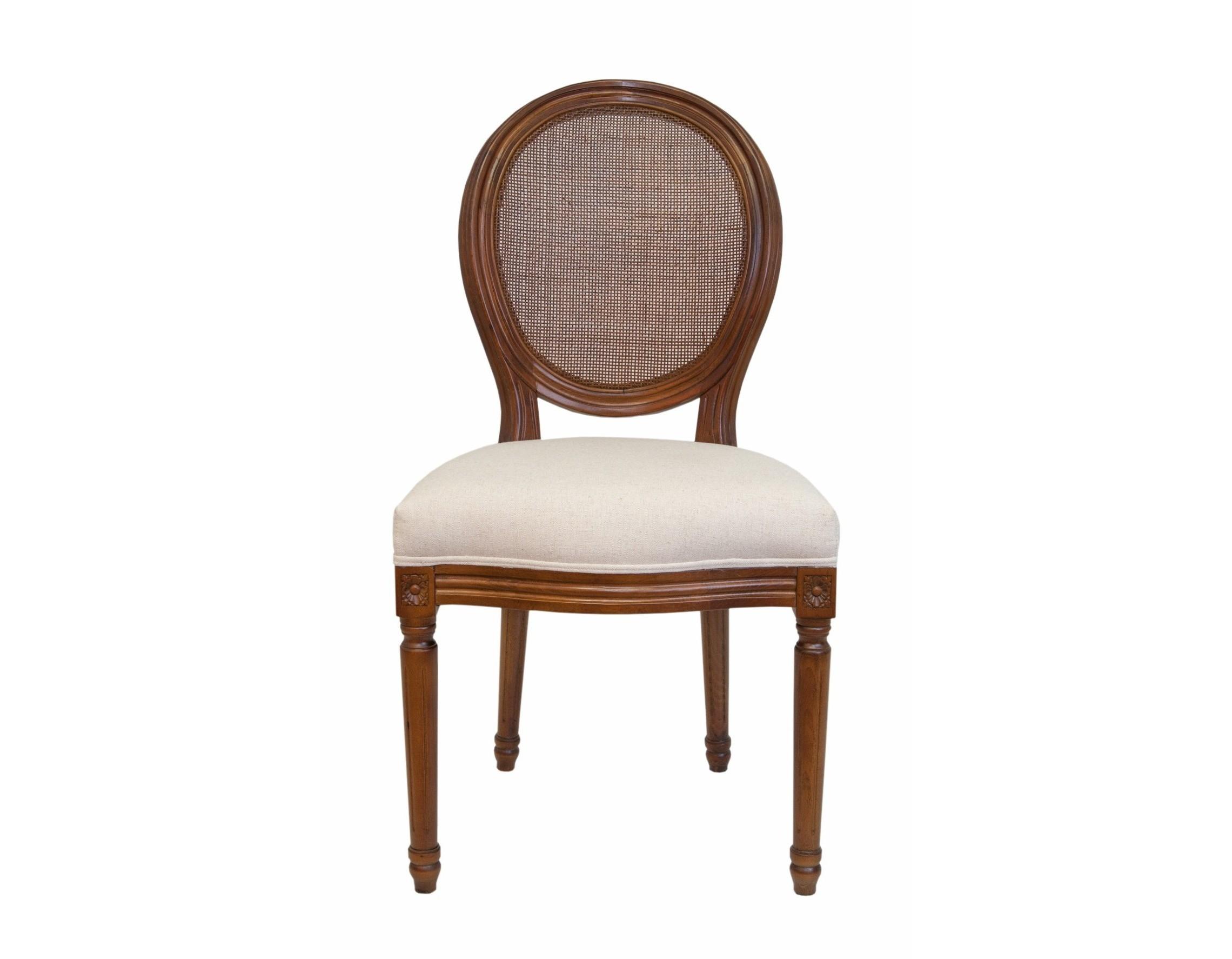 Стул Memos classicОбеденные стулья<br>Изысканный стул Memos classic с округлой спинкой напоминающей медальон, выполнен в элегантном классическом французском стиле. Спинка выполнена из ротанга, а основание модели выполнено из массива дерева в приятном теплом ореховом цвете. Стул Memos classic прекрасно дополнит интерьер гостиной или кухни, добавит изысканность и привлекательность в обычный интерьер.&amp;lt;div&amp;gt;&amp;lt;br&amp;gt;&amp;lt;/div&amp;gt;&amp;lt;div&amp;gt;Материал: лен, массив березы, ротанг.&amp;lt;br&amp;gt;&amp;lt;/div&amp;gt;<br><br>Material: Береза<br>Width см: 50<br>Depth см: 56<br>Height см: 96